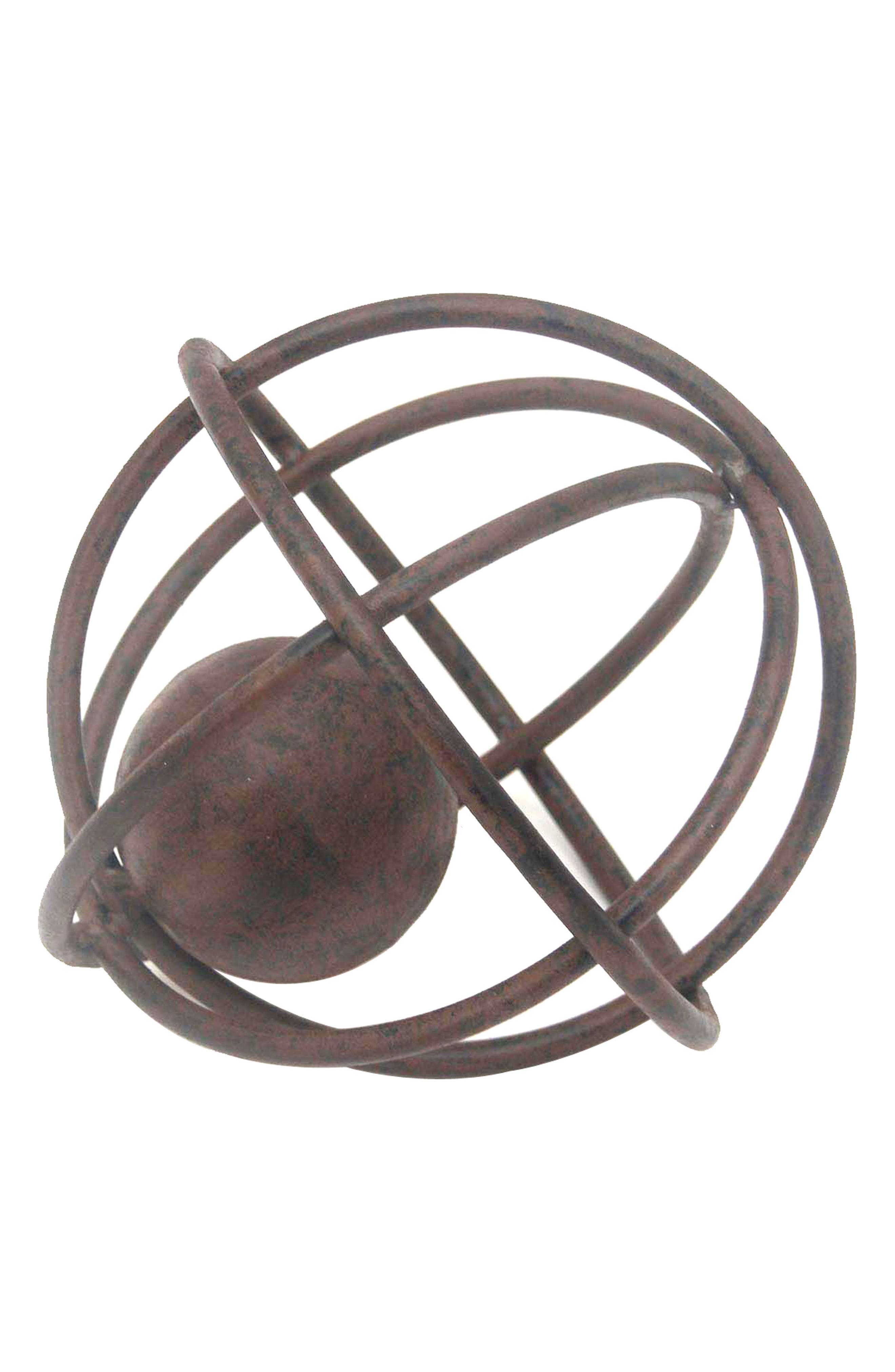 Sphere Sculpture,                             Main thumbnail 1, color,                             Brown