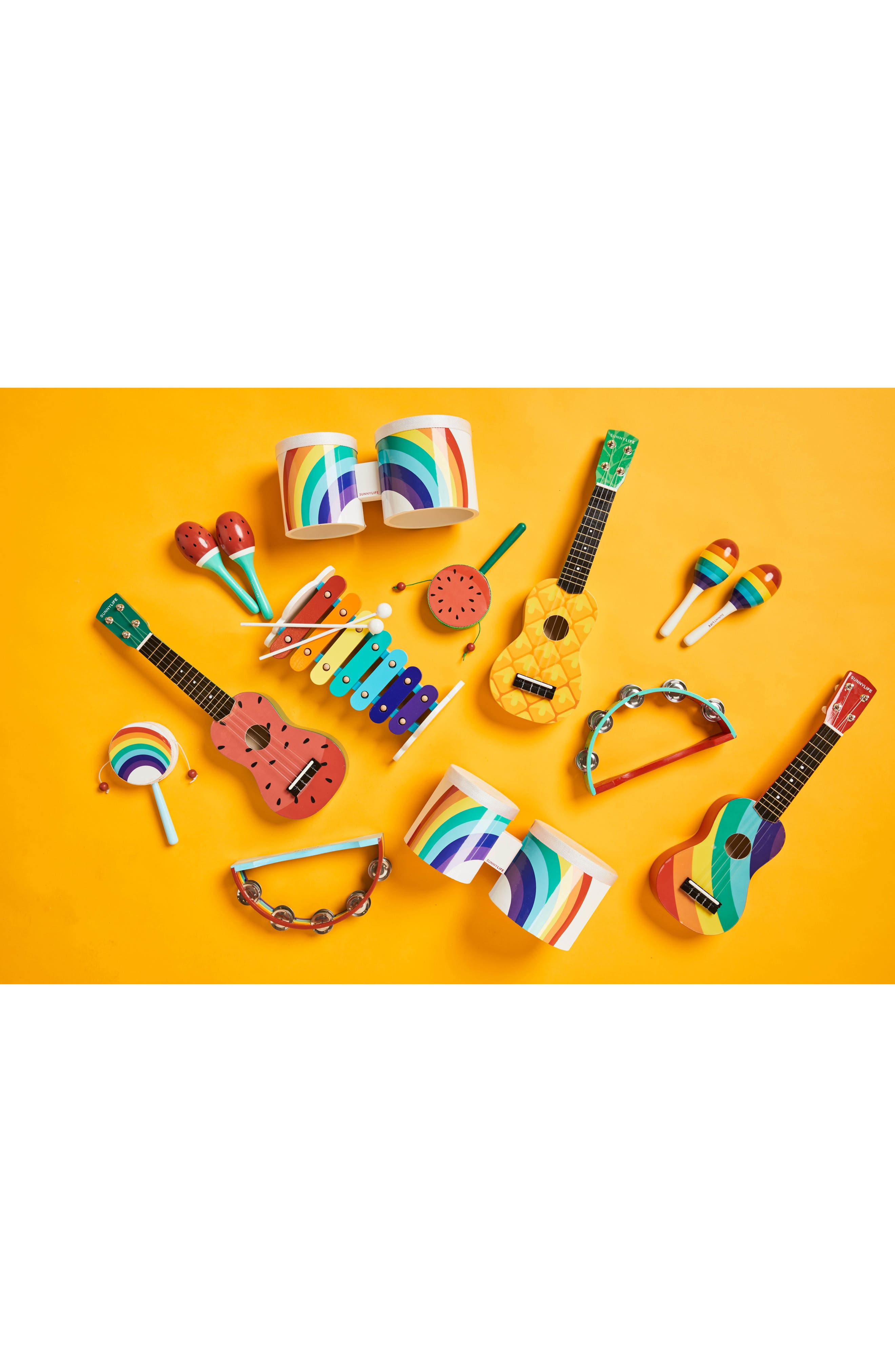Rainbow Bongo Drums,                             Alternate thumbnail 3, color,                             Multi
