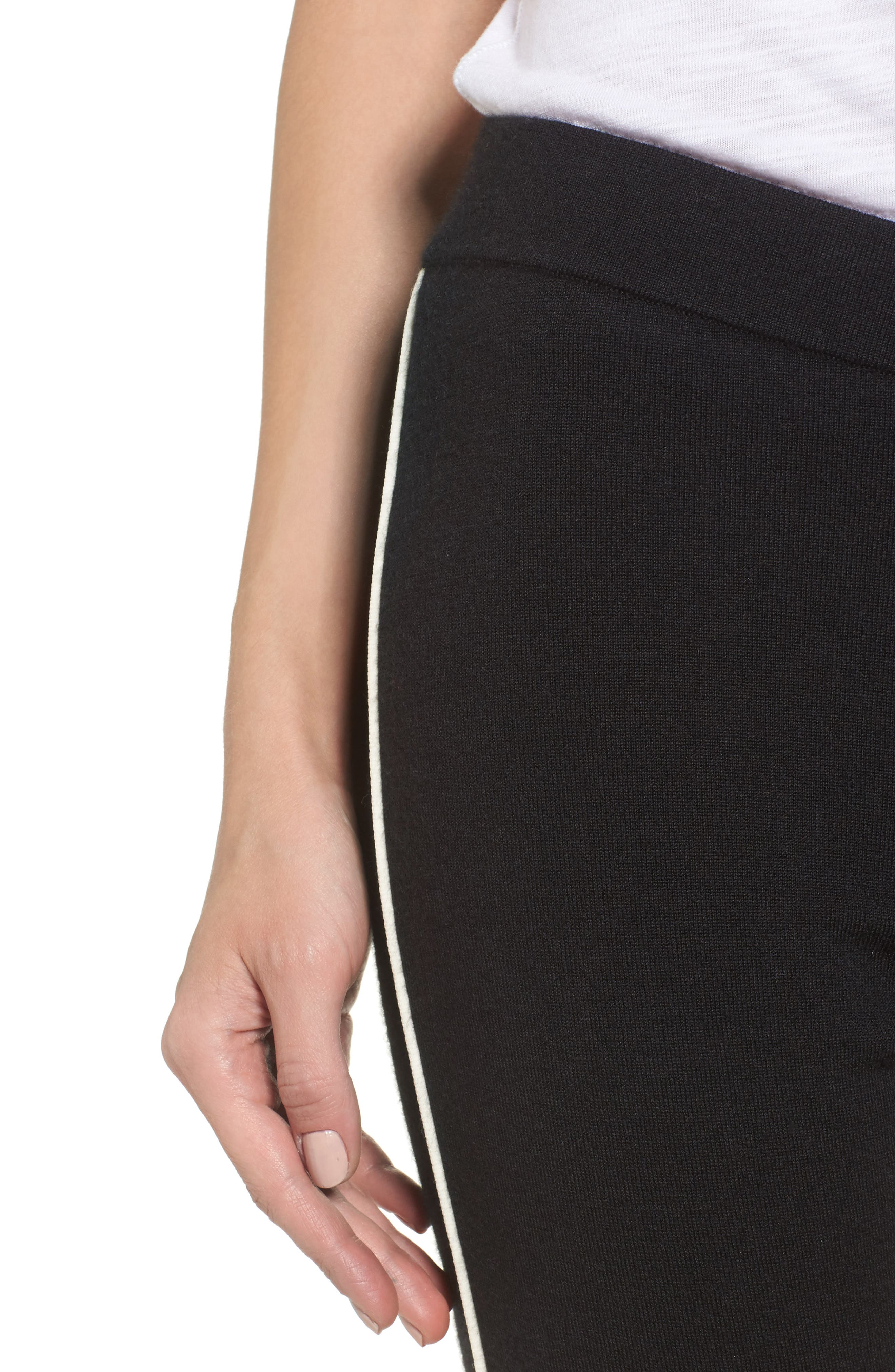 Alternate Image 4  - James Perse Stretch Cashmere Leggings