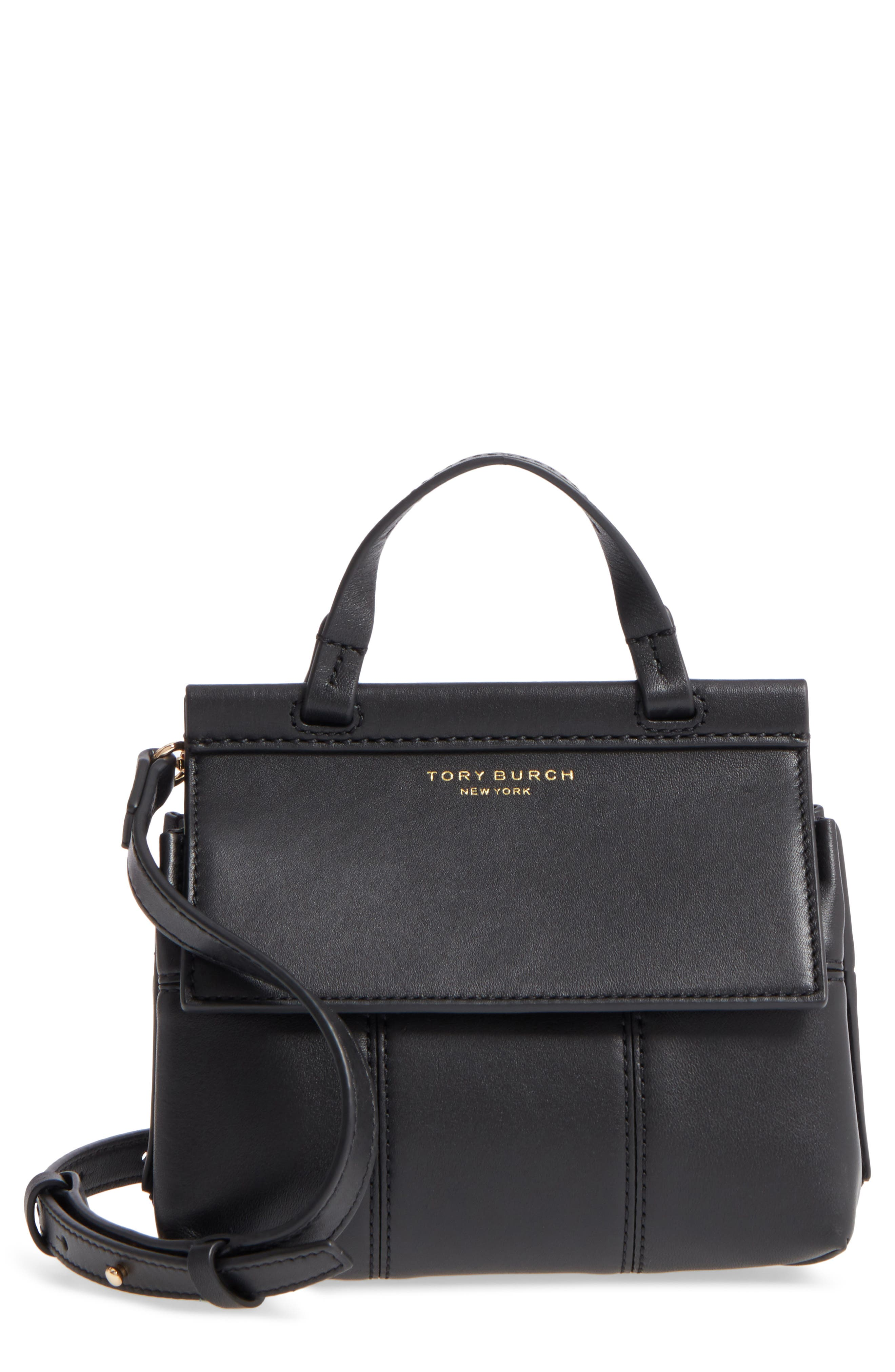 Main Image - Tory Burch Mini Block-T Leather Satchel