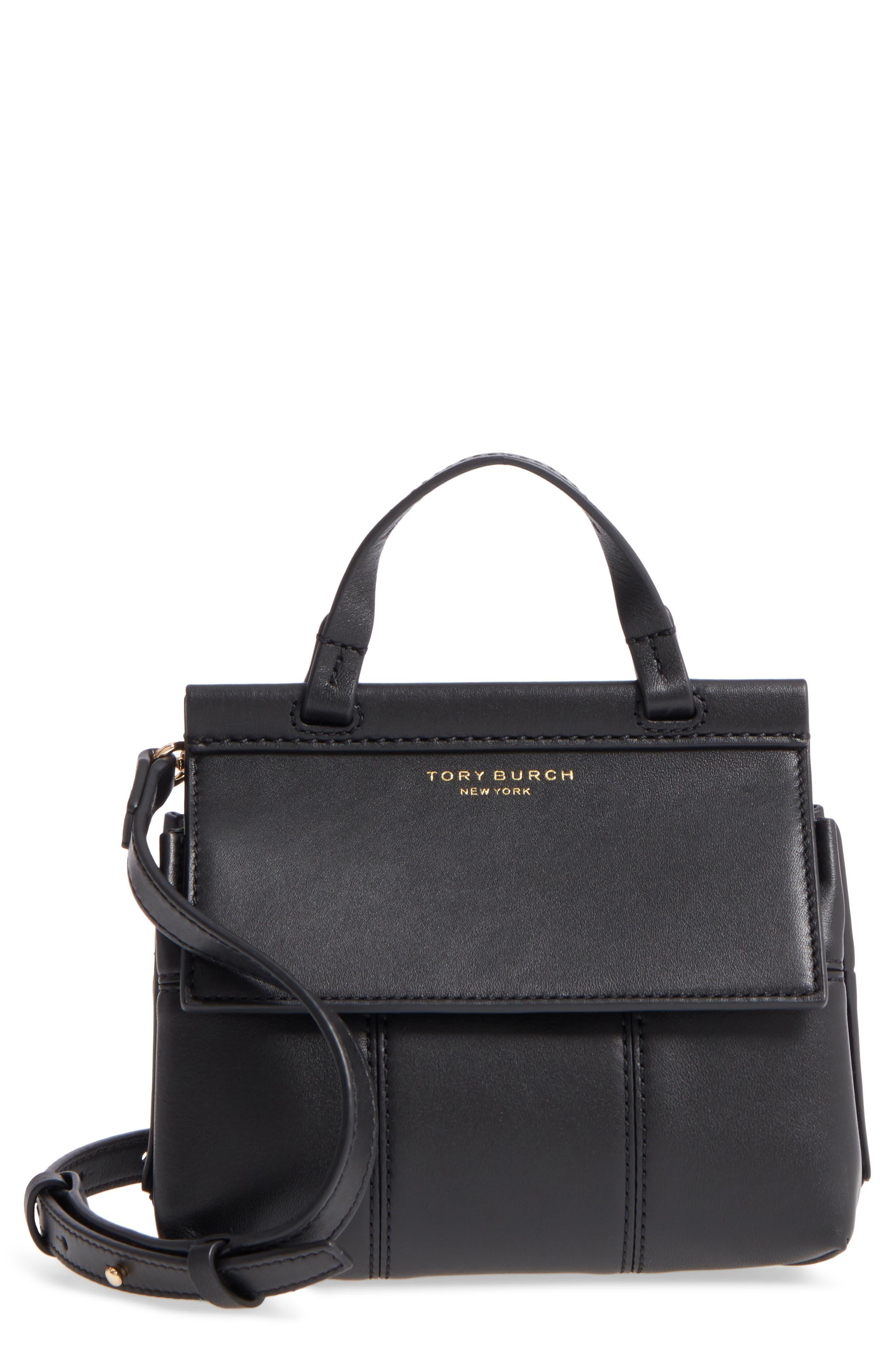 Tory Burch Mini Block-T Leather Satchel
