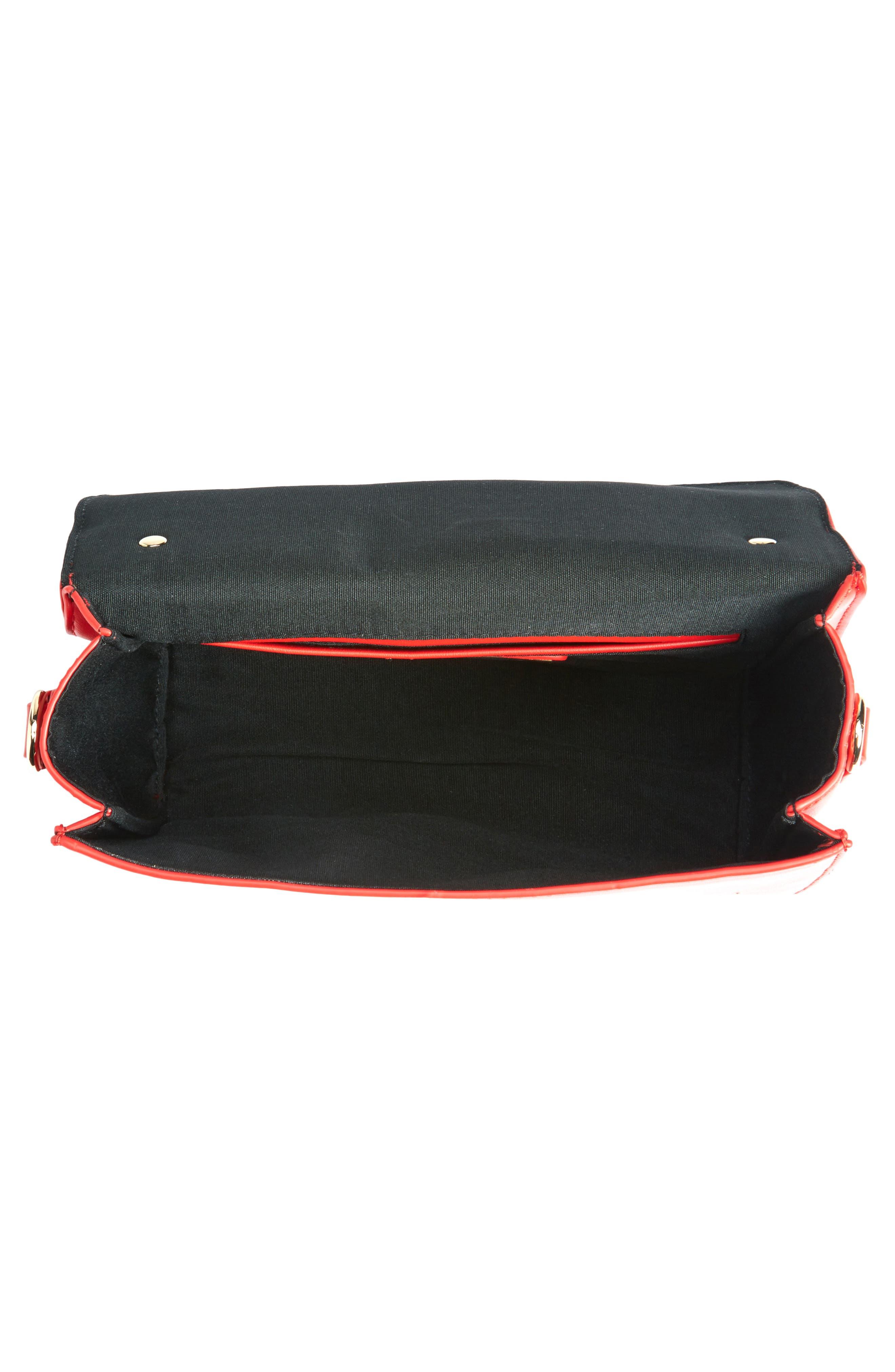 Alternate Image 4  - Street Level Studded Strap Crossbody Bag