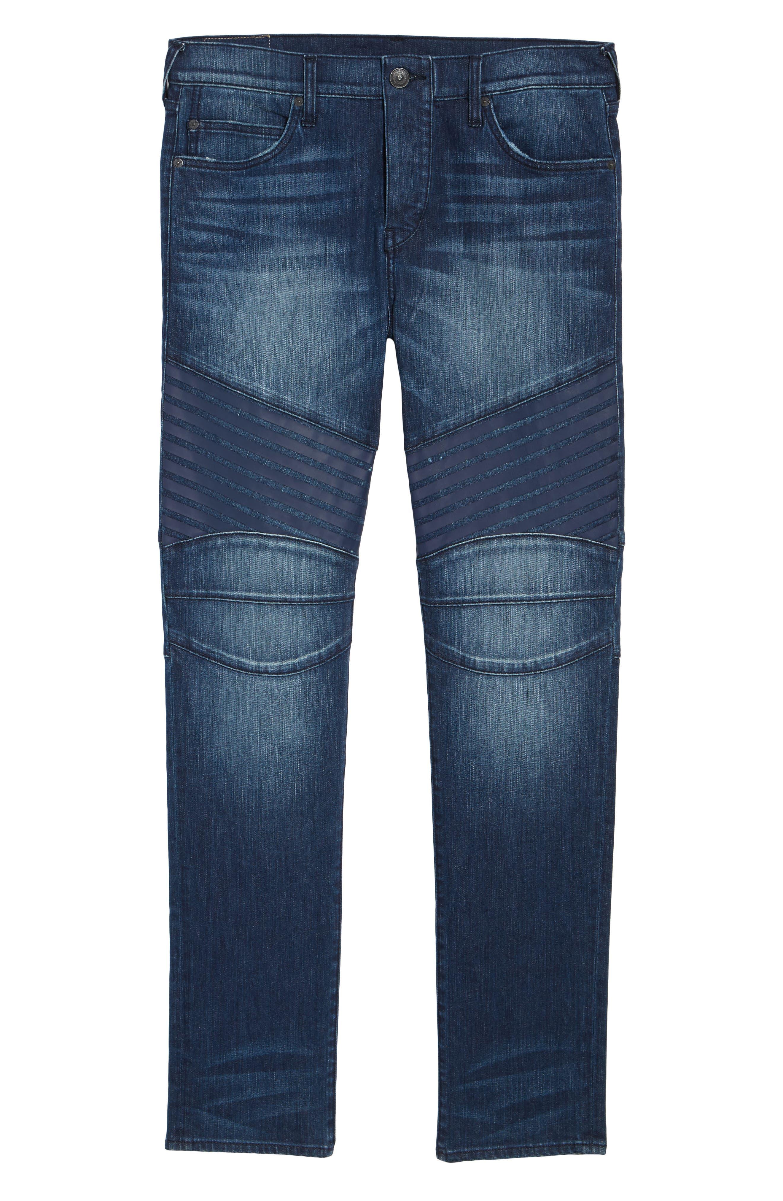 Alternate Image 6  - True Religion Brand Jeans Rocco Biker Skinny Fit Jeans (Rebel Race)