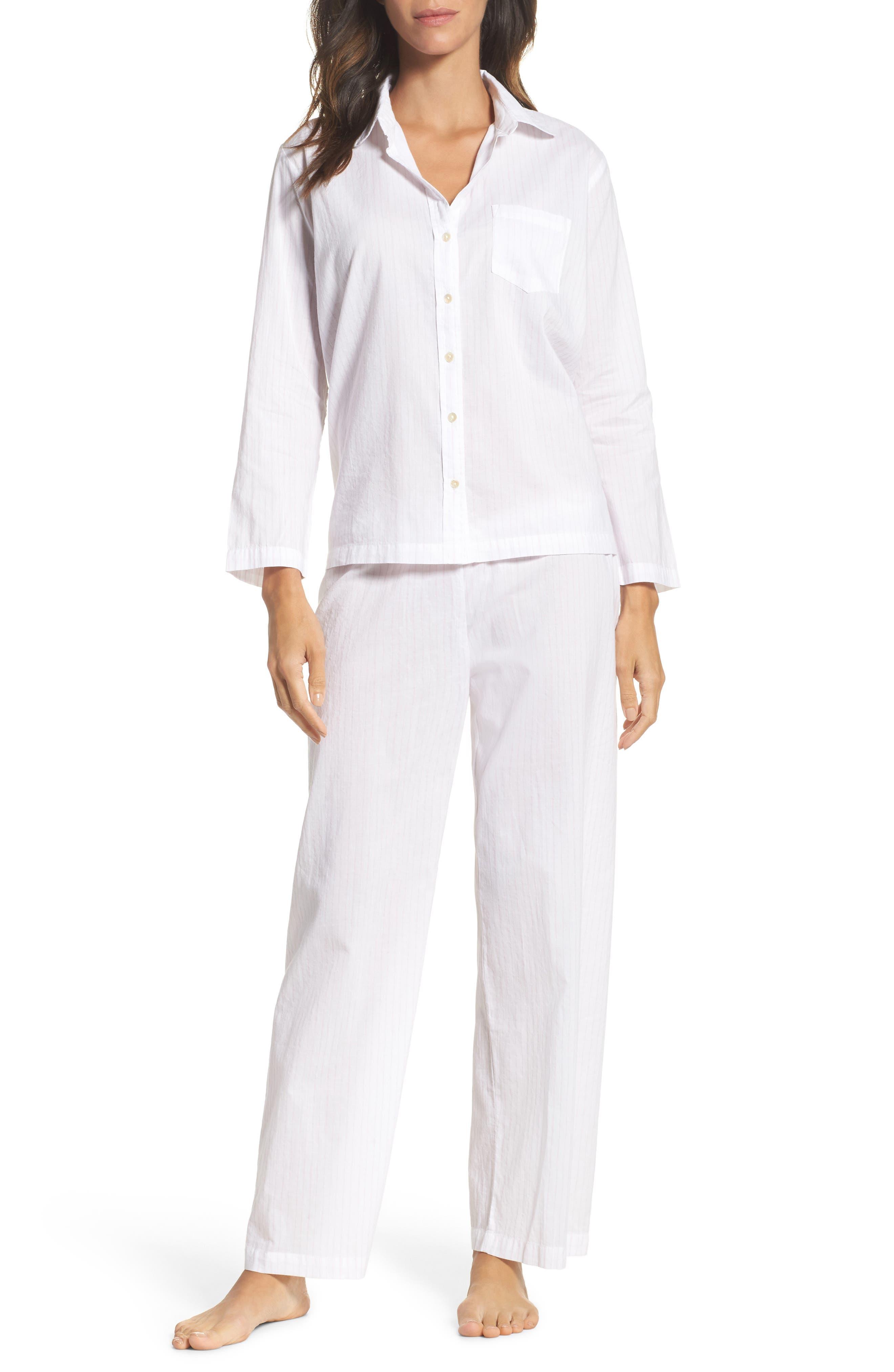 Main Image - Pour Les Femmes Pinstripe Pajamas