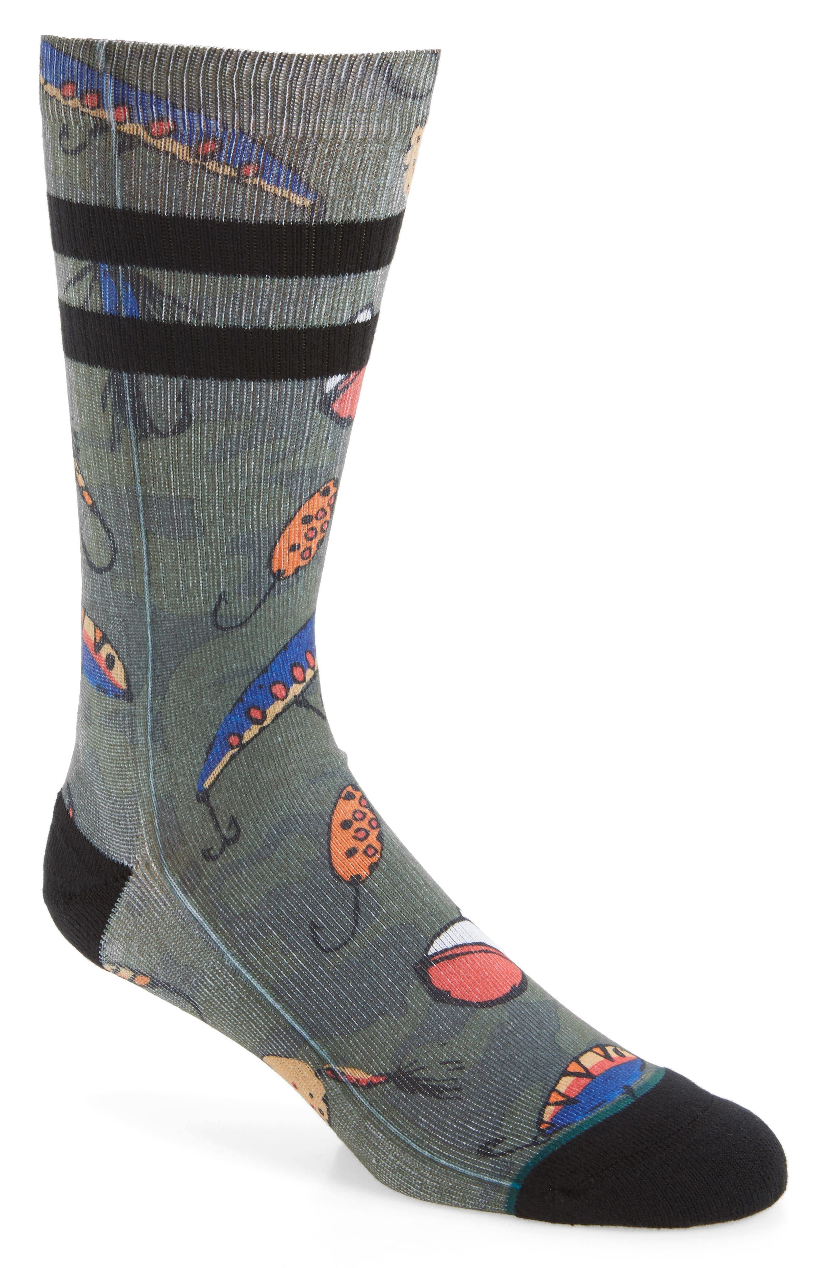 Lure Socks,                         Main,                         color, Green
