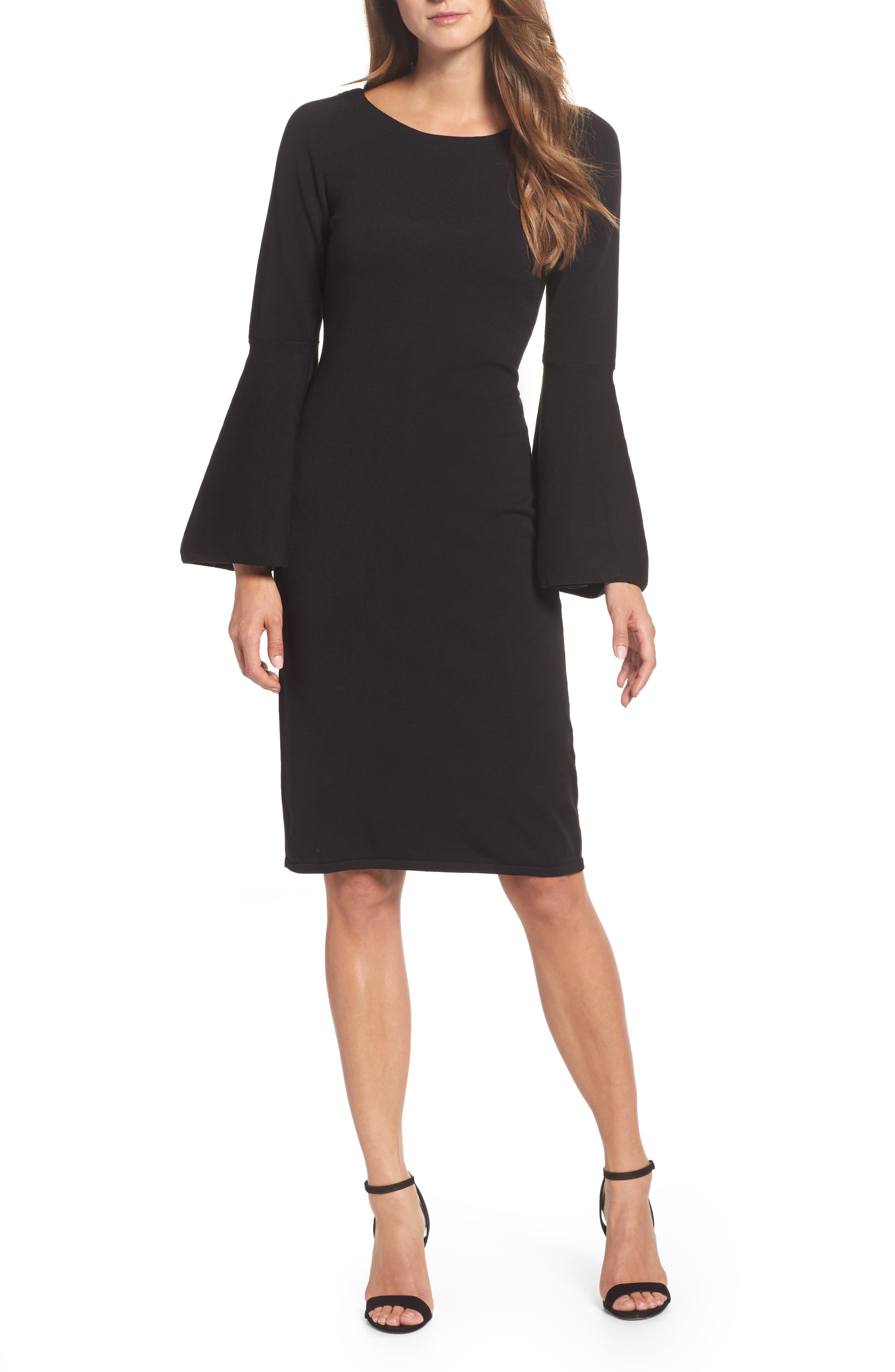 Alternate Image 1 Selected - Eliza J Bell Sleeve Dress