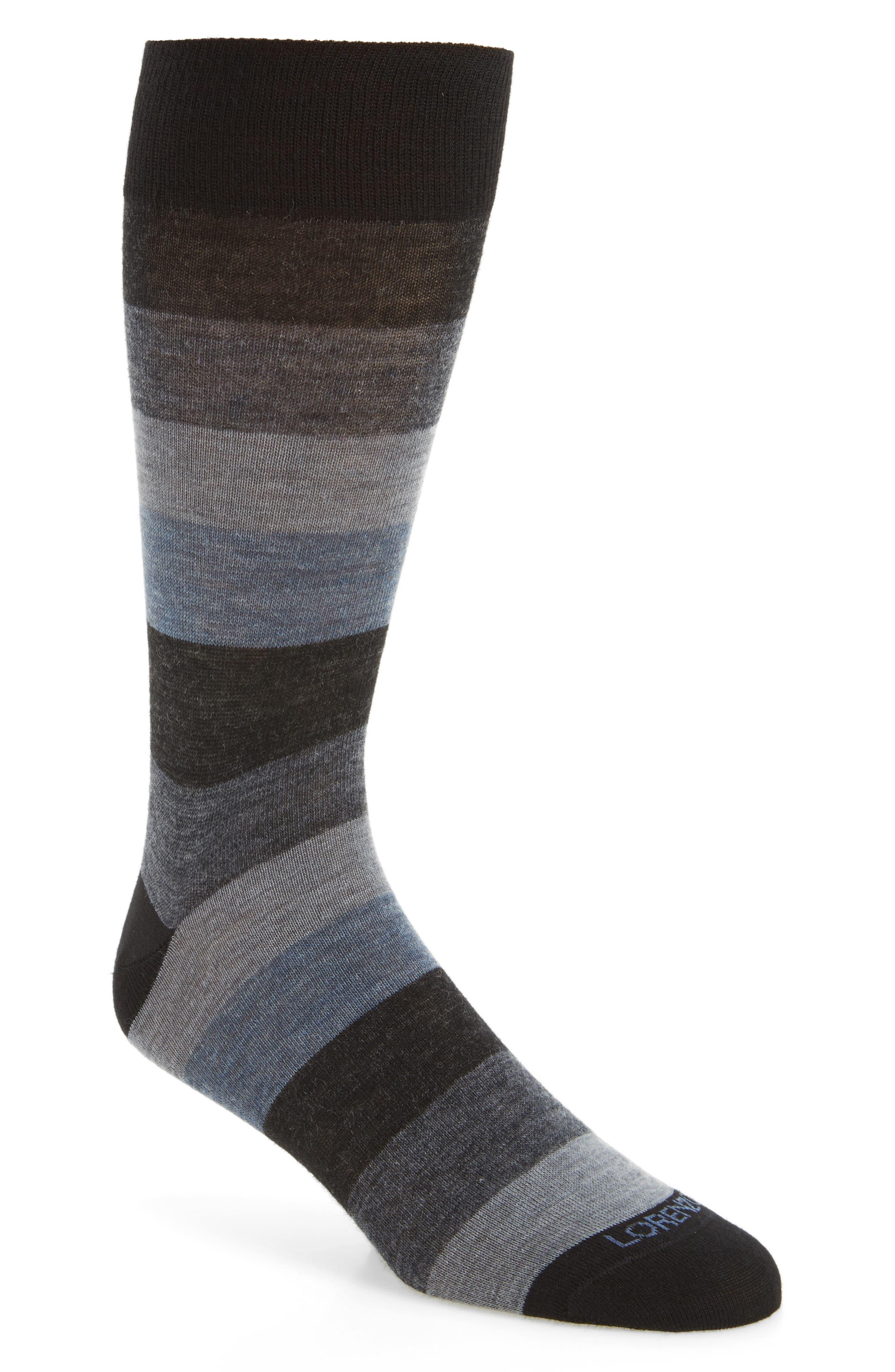 Alternate Image 1 Selected - Lorenzo Uomo Colorblock Socks (3 for $30)