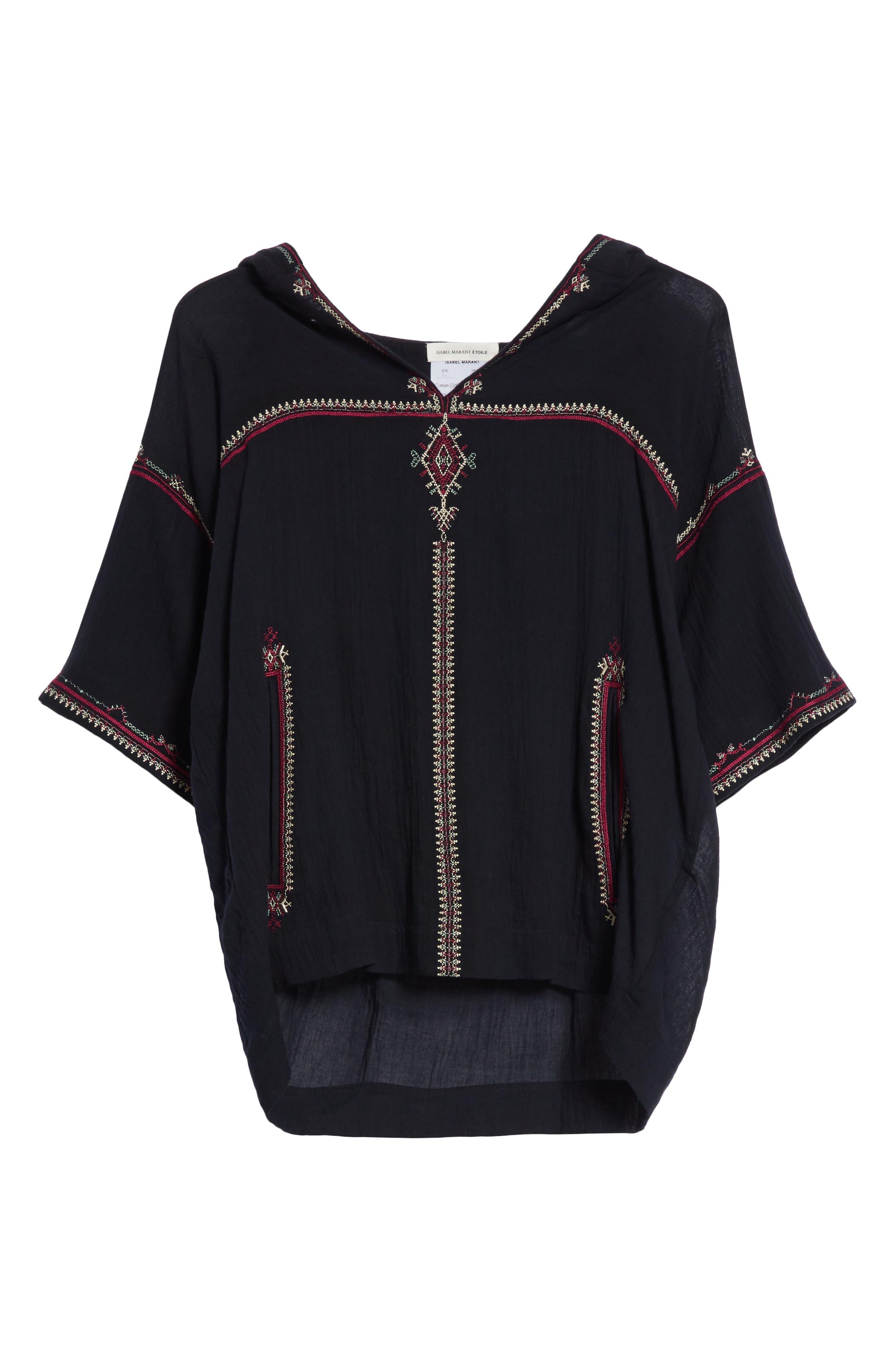 Alternate Image 6  - Isabel Marant Étoile Mekki Embroidered Cotton Top
