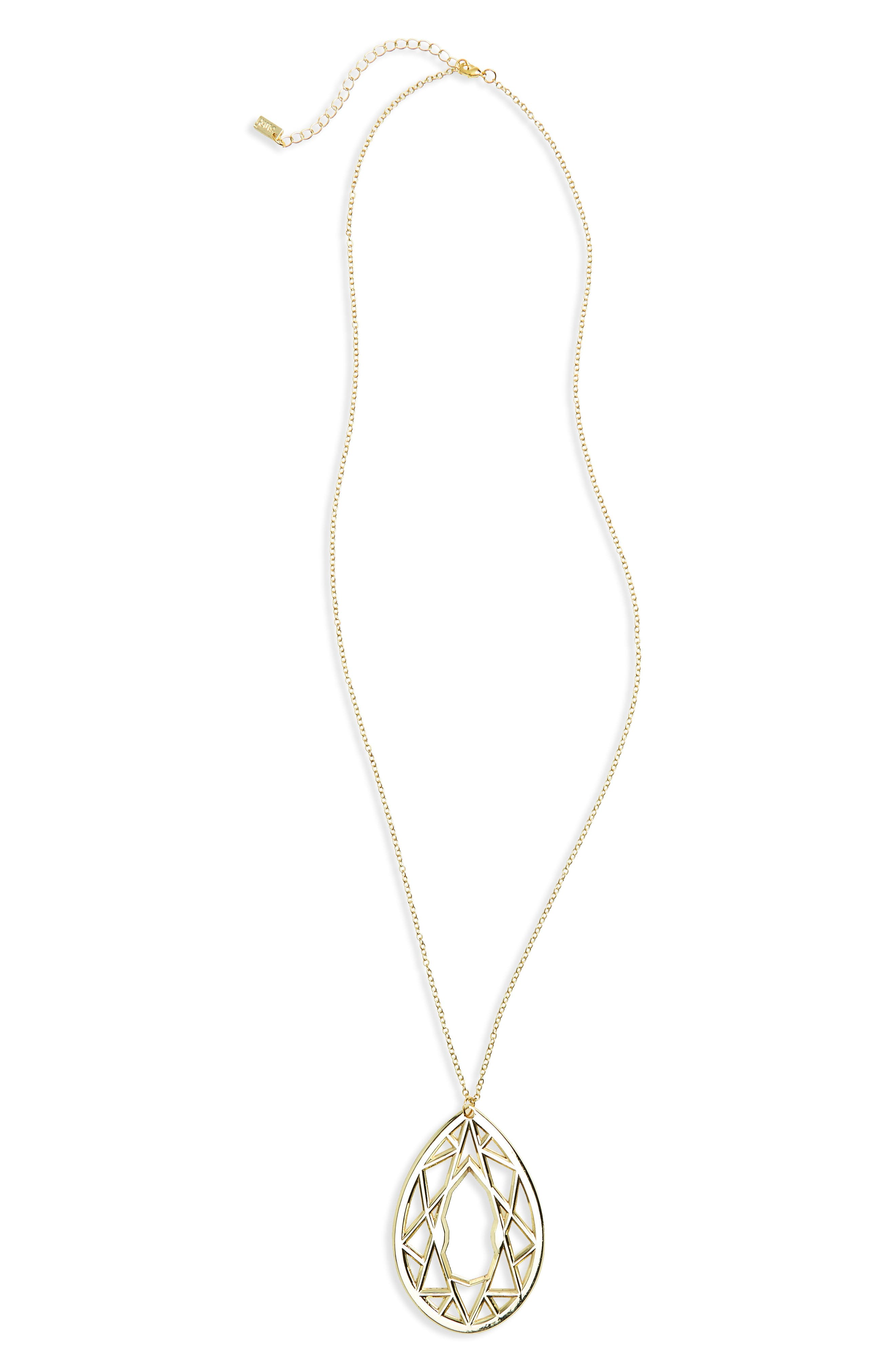 Gold Gem Bottle Opener Pendant Necklace,                         Main,                         color, Gold
