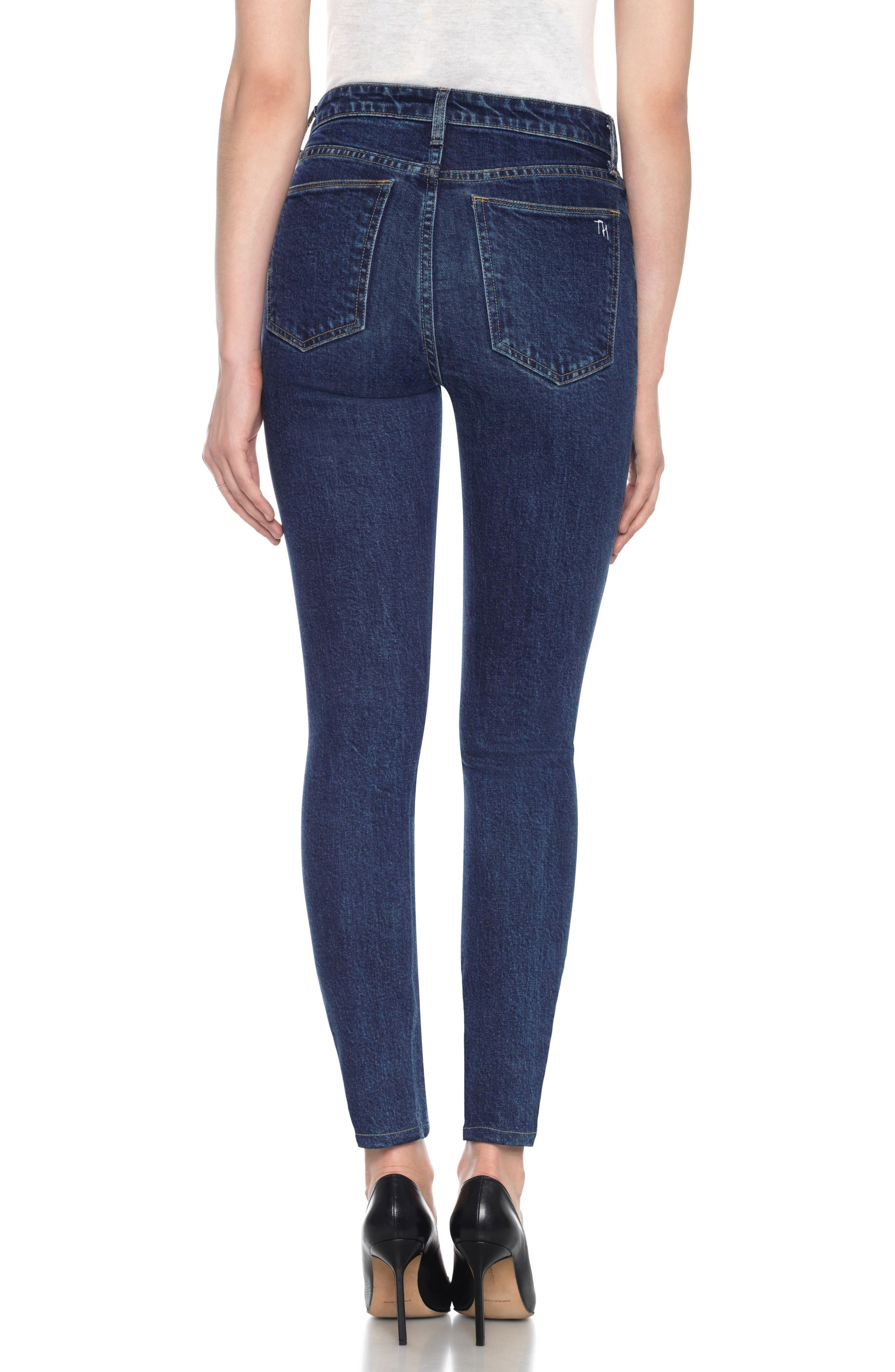 Charlie High Waist Ankle Skinny Jeans,                             Alternate thumbnail 3, color,                             Sheela