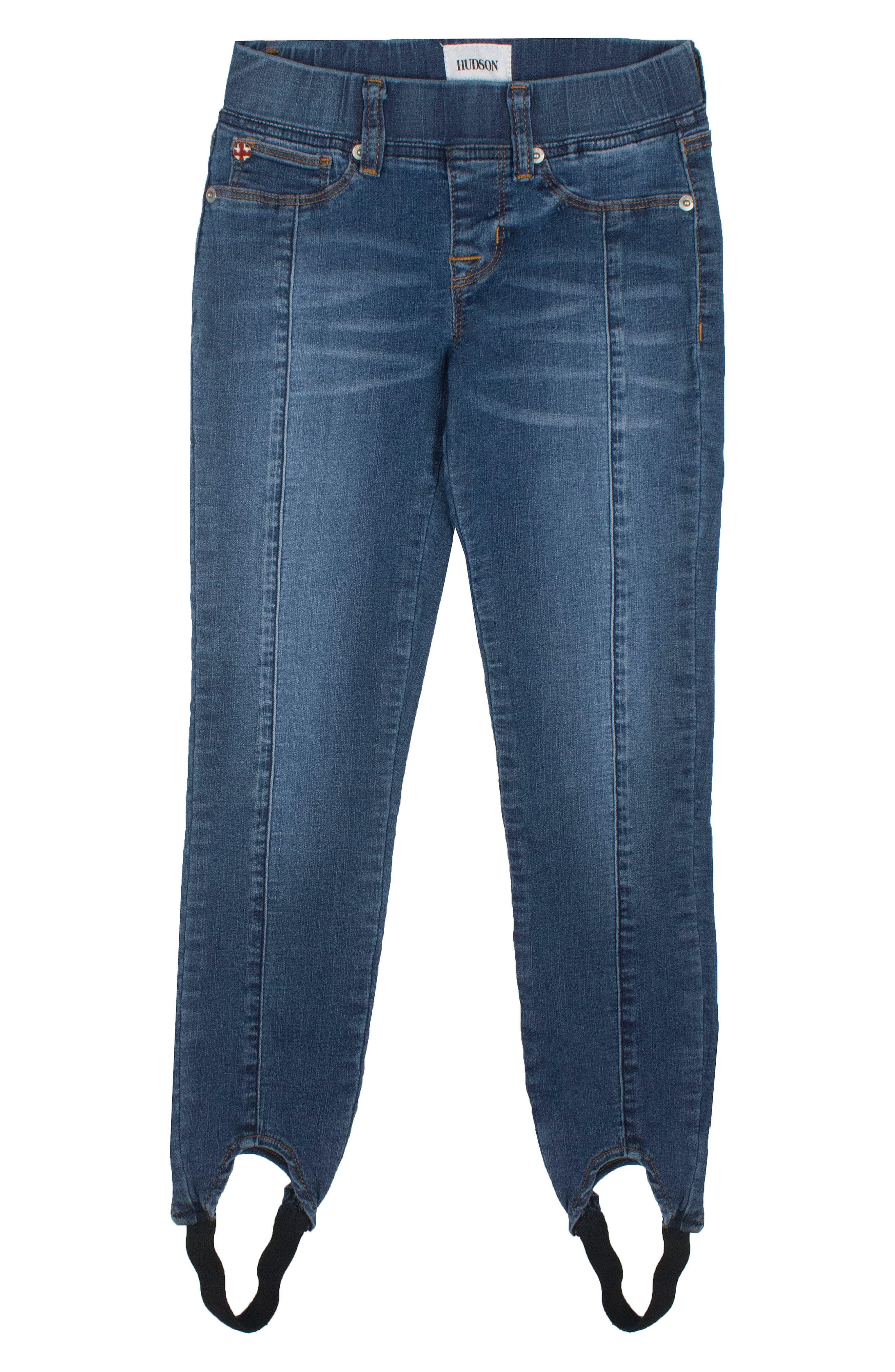 Rosa Stirrup Jeans,                         Main,                         color, Naval Blue
