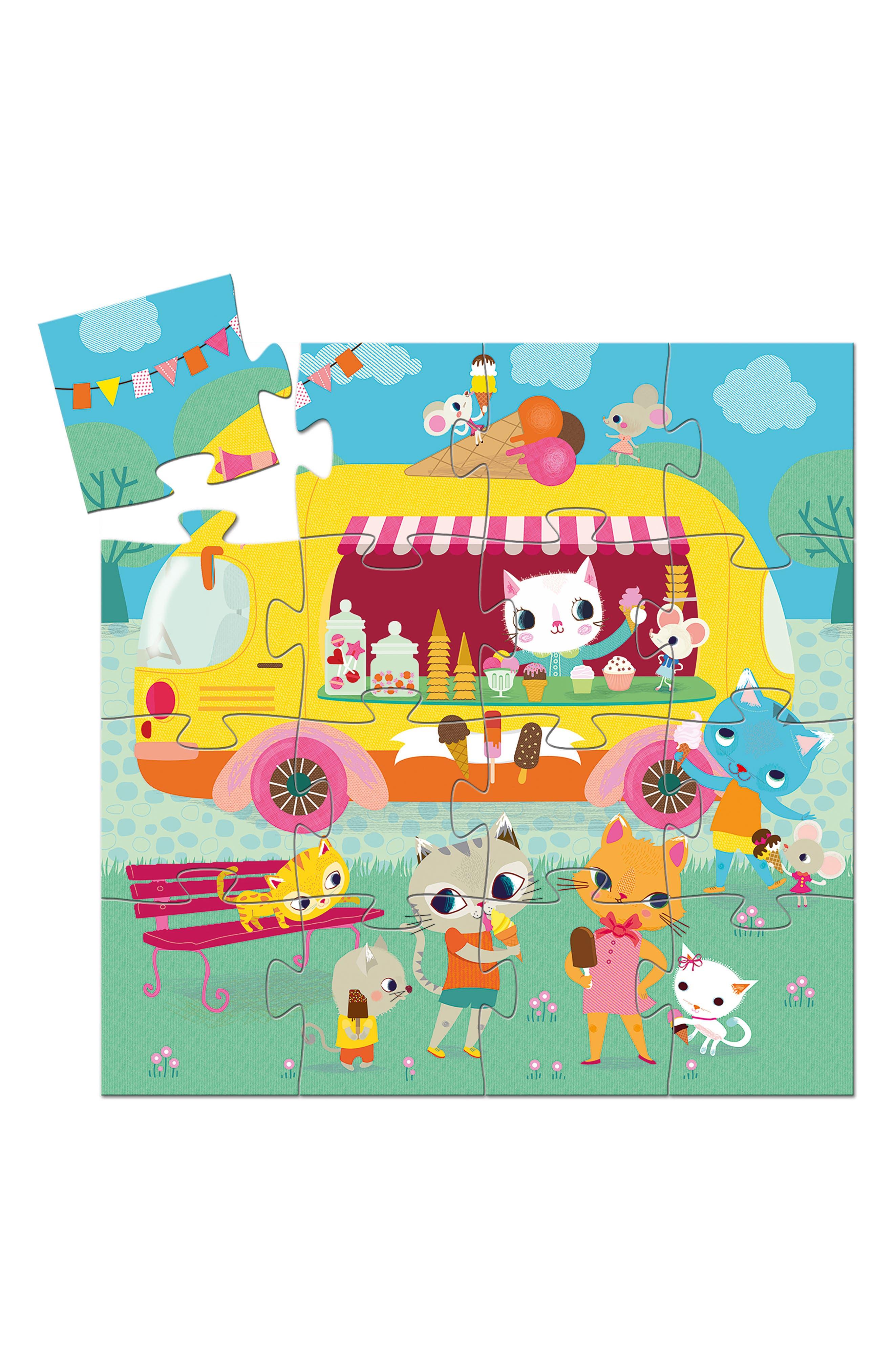 16-Piece Ice Cream Truck Mini Silhouette Puzzle,                             Alternate thumbnail 2, color,                             Multi
