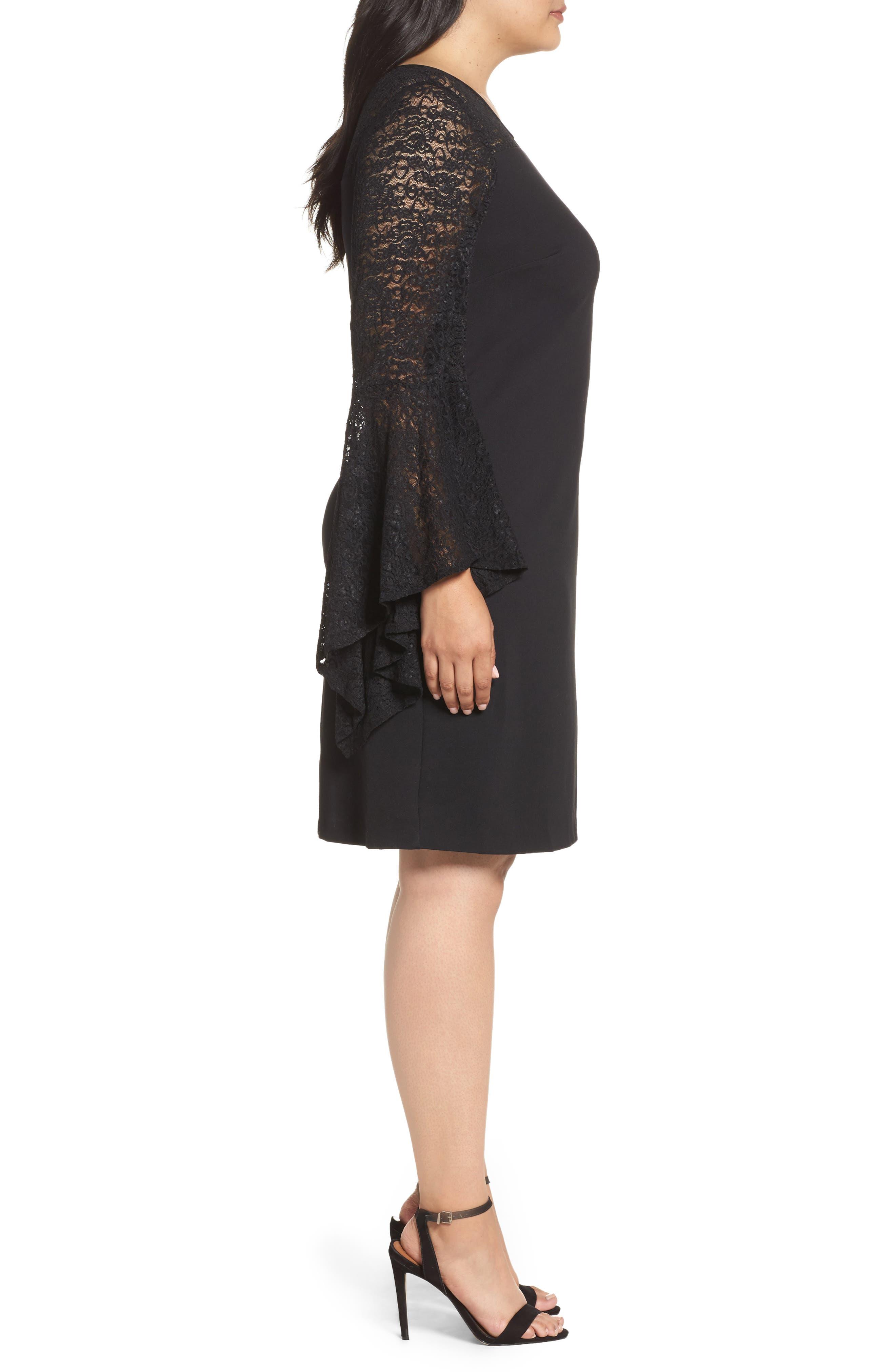 Alternate Image 3  - Vince Camuto Bell Sleeve Shift Dress (Plus Size)