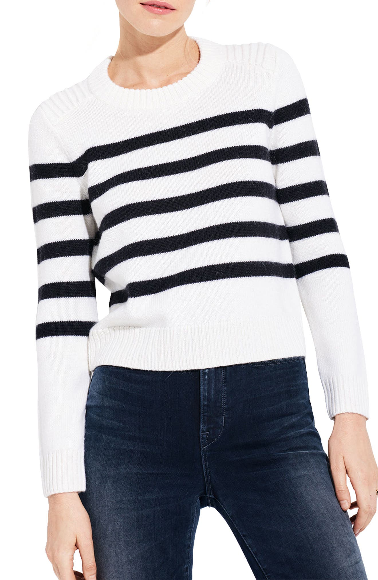 The Toastie Wool Blend Sweater,                         Main,                         color, White/ Navy