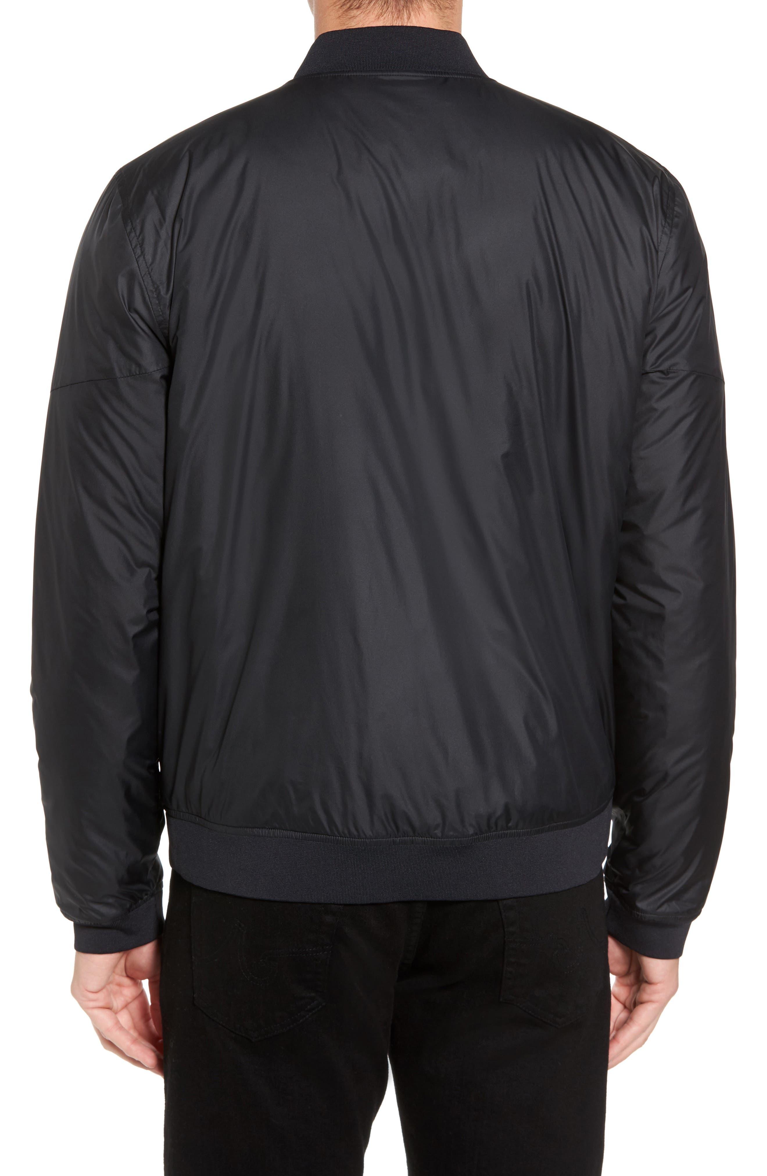 Sportstyle Reactor Reversible Bomber Jacket,                             Alternate thumbnail 2, color,                             Black / Black