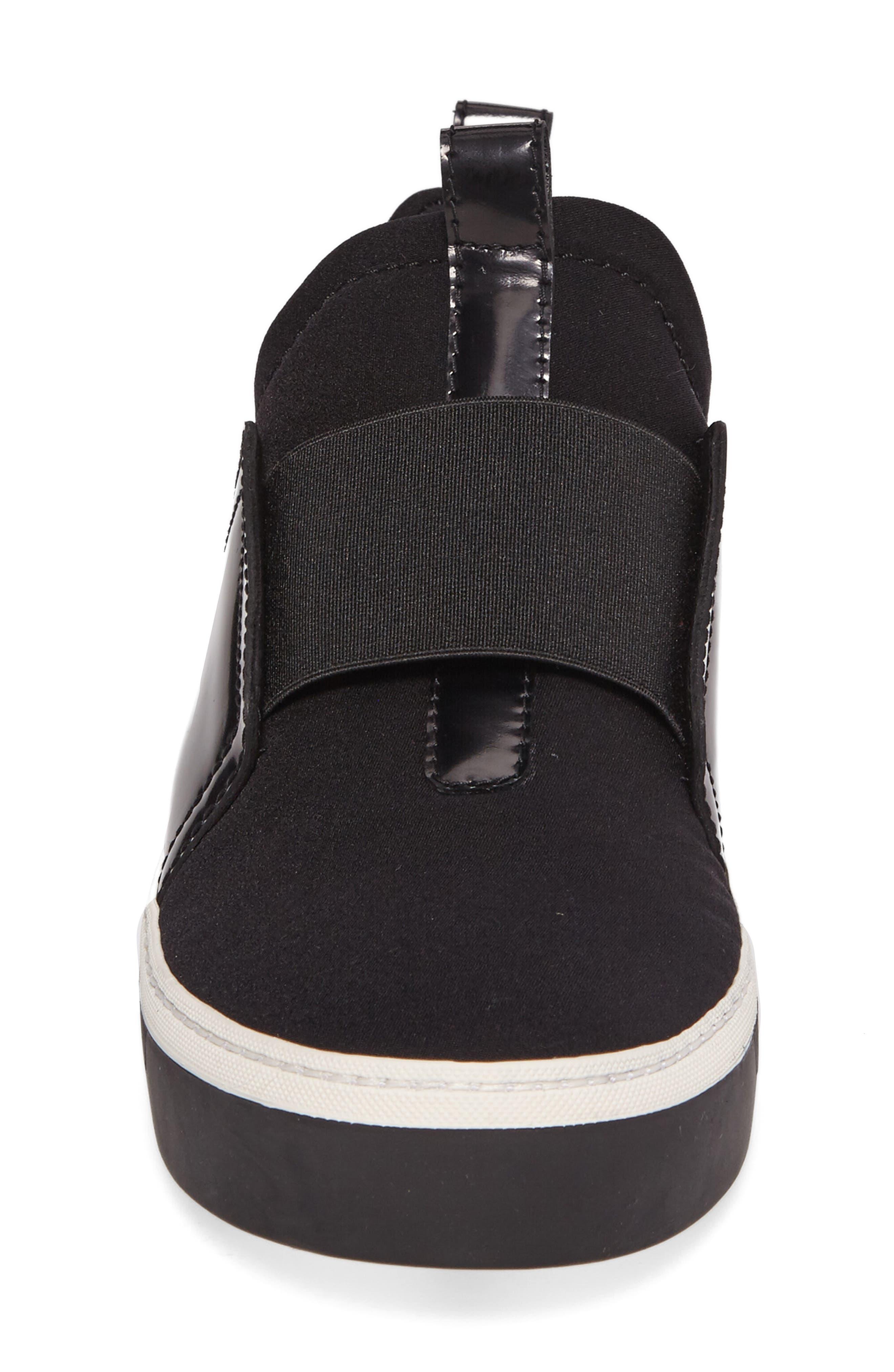 Wayfare Slip-On Sneaker,                             Alternate thumbnail 4, color,                             Black Neoprene