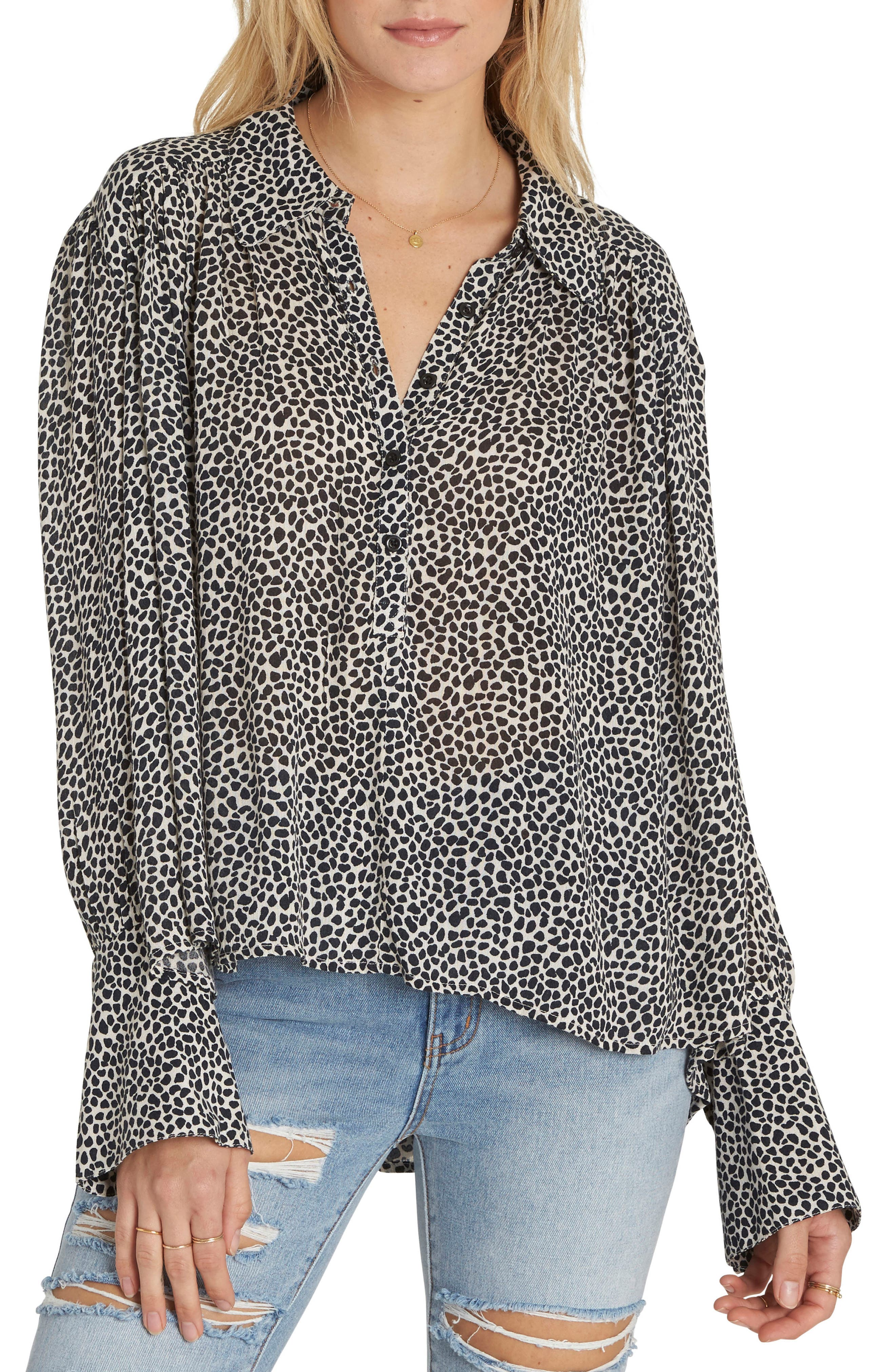 Groovy Moves Flare Cuff Top,                         Main,                         color, Ivory