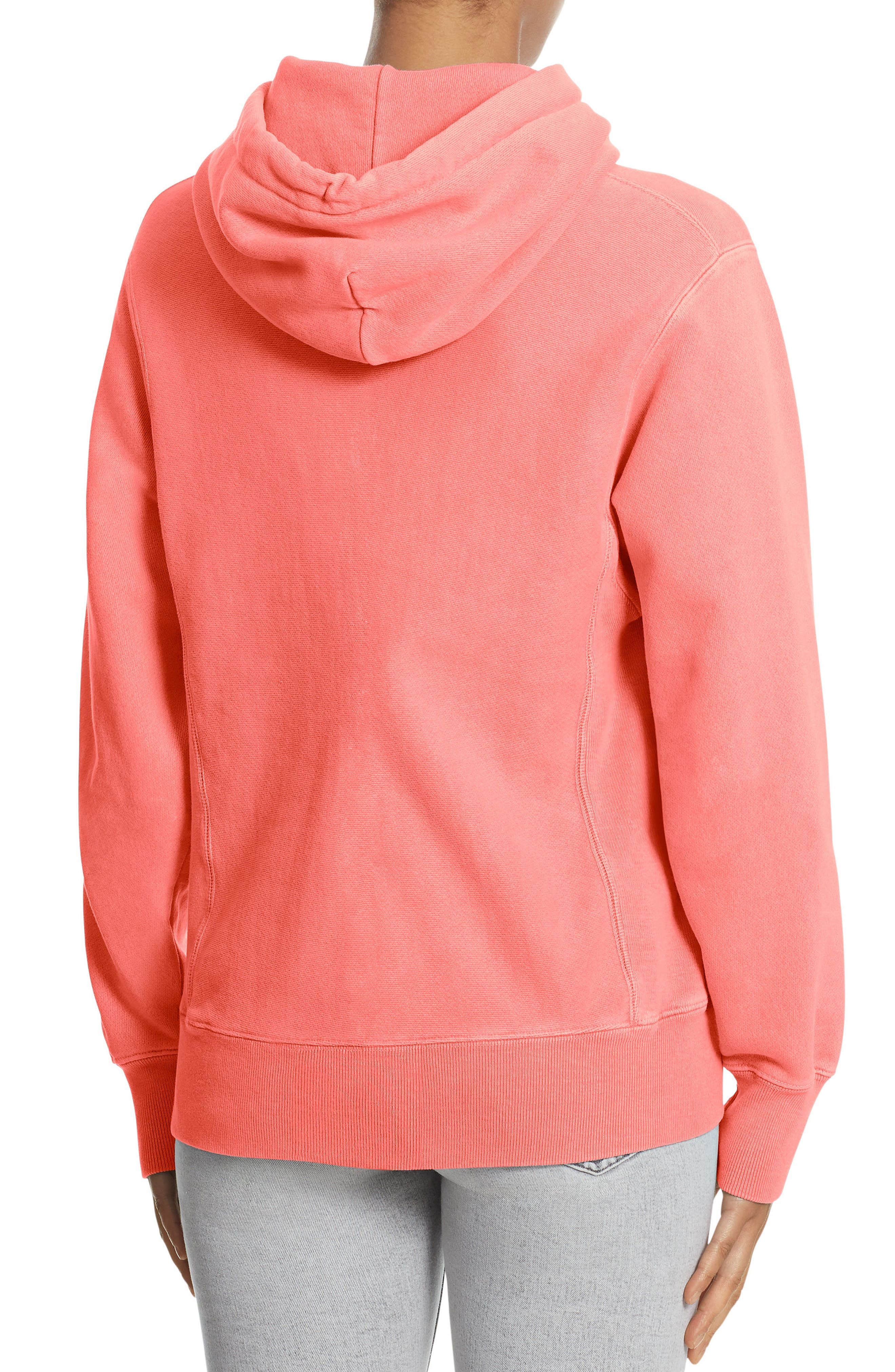 Reverse Weave<sup>®</sup> Pullover Hoodie,                             Alternate thumbnail 2, color,                             Sizzling Orange