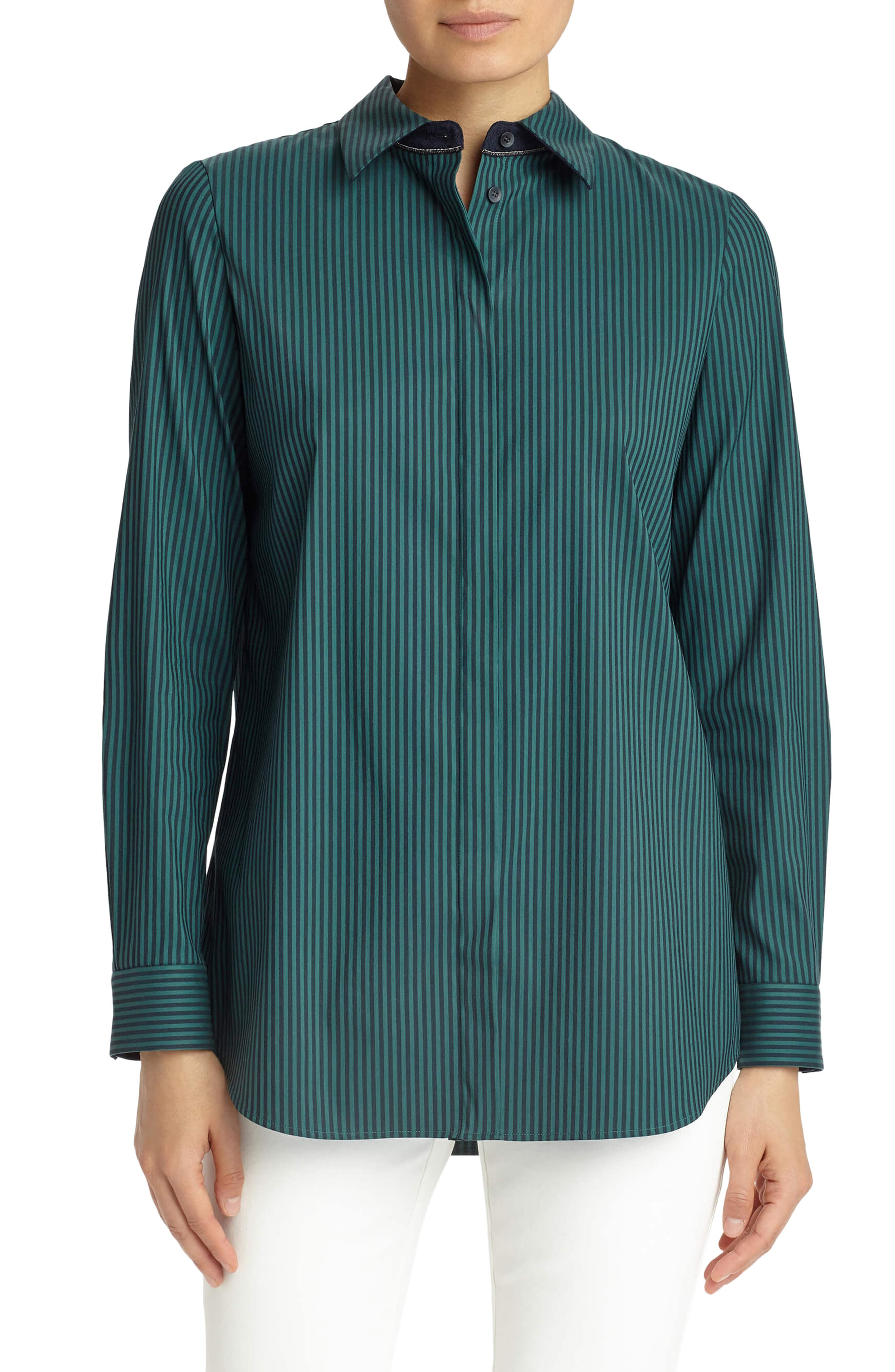 Lafayette 148 New York 'Brody - Palace Stripe' Blouse