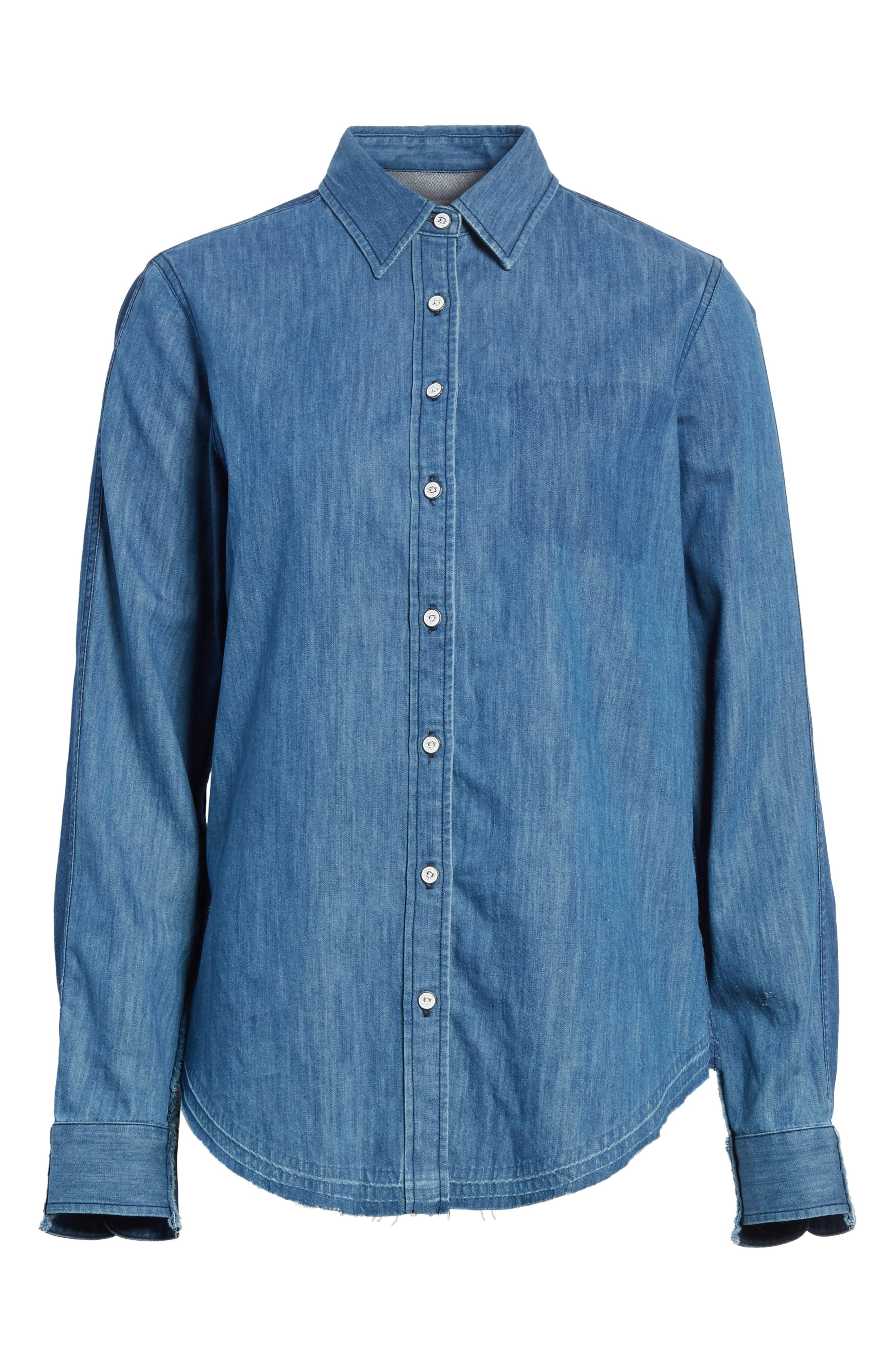 Alternate Image 6  - rag & bone/JEAN Destroyed Classic Denim Shirt