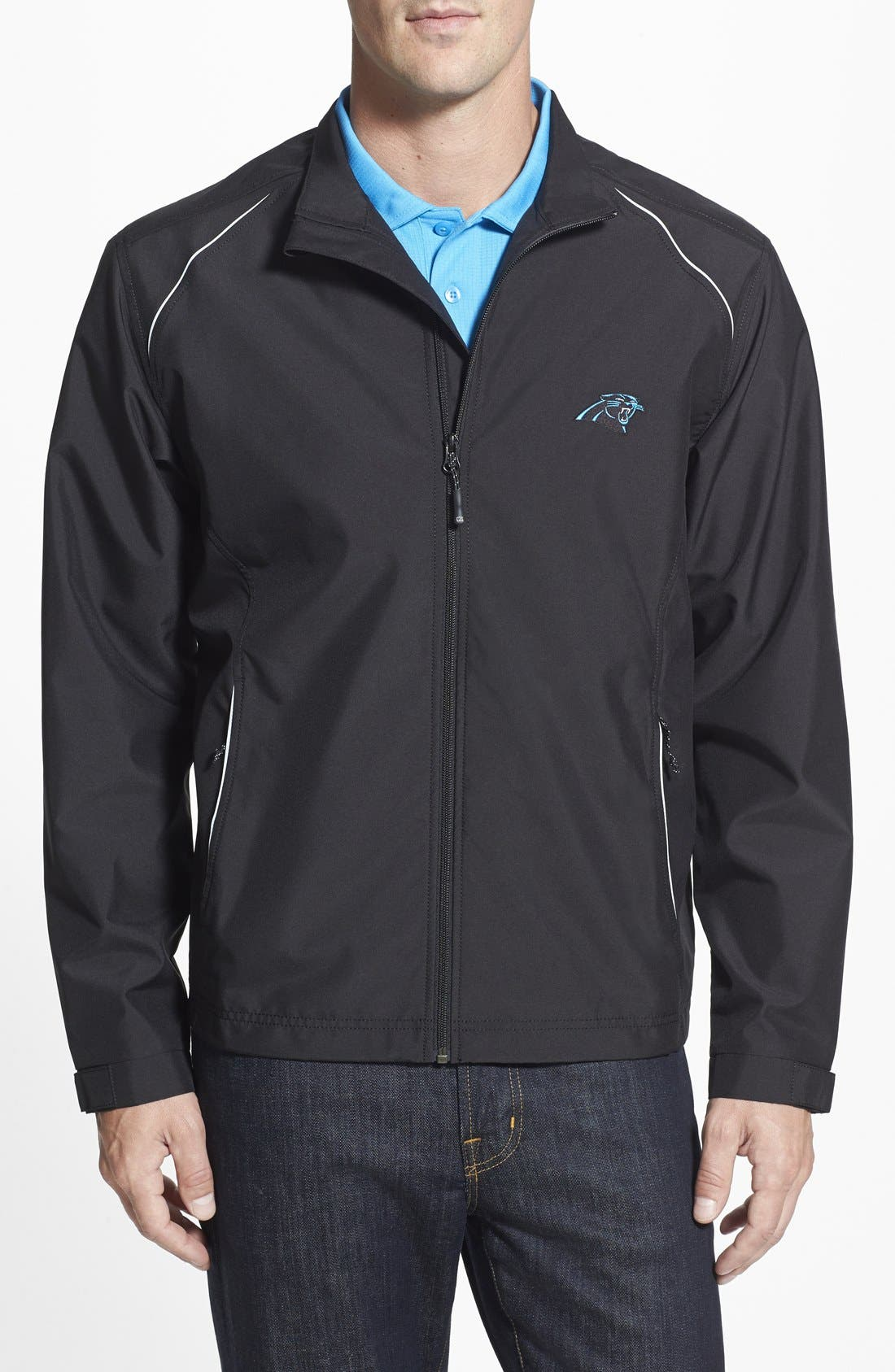Cutter & Buck 'Carolina Panthers - Beacon' WeatherTec Wind & Water Resistant Jacket (Big & Tall)