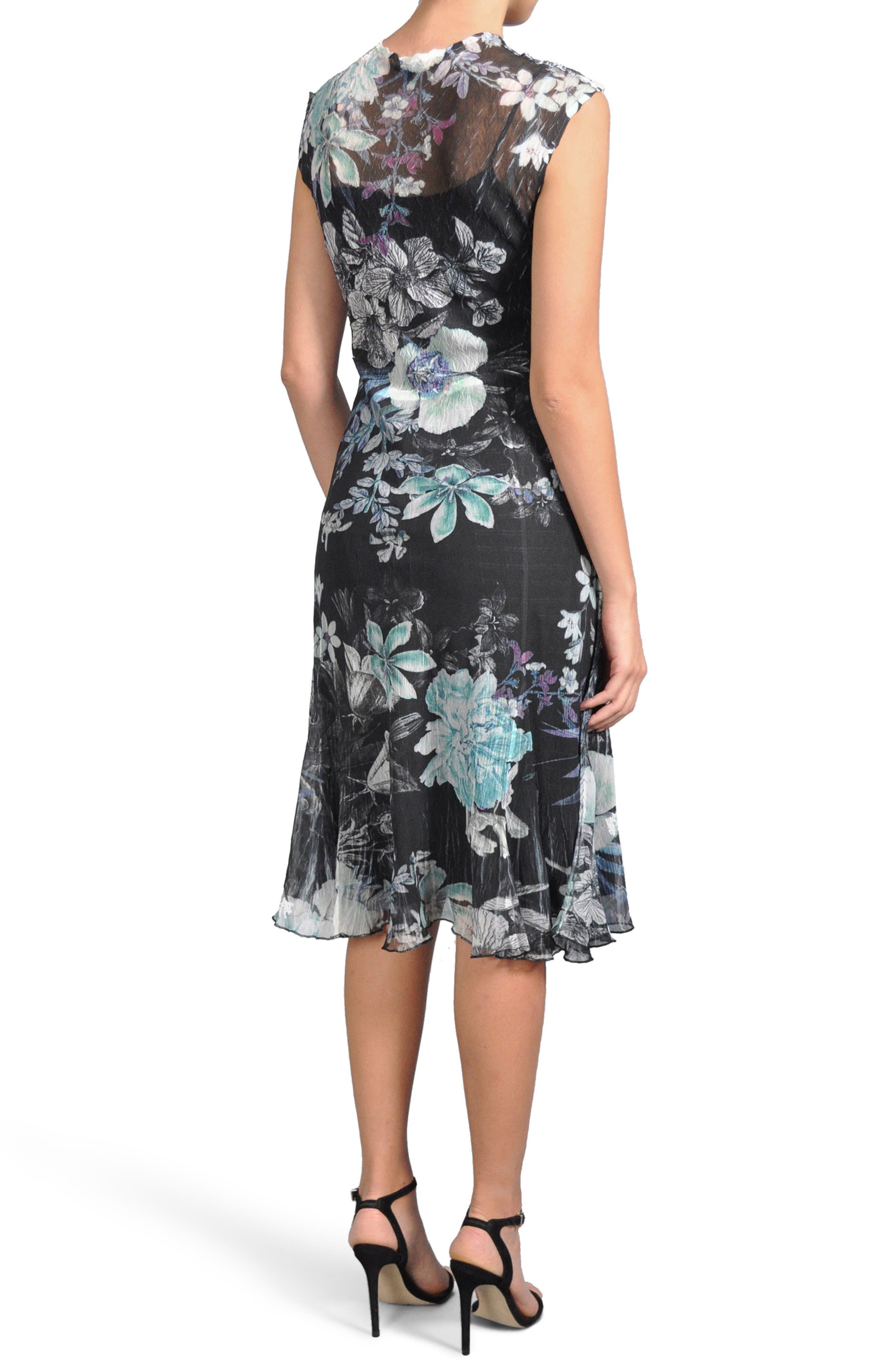 Alternate Image 2  - Komarov Print Chiffon Dress (Regular & Petite)