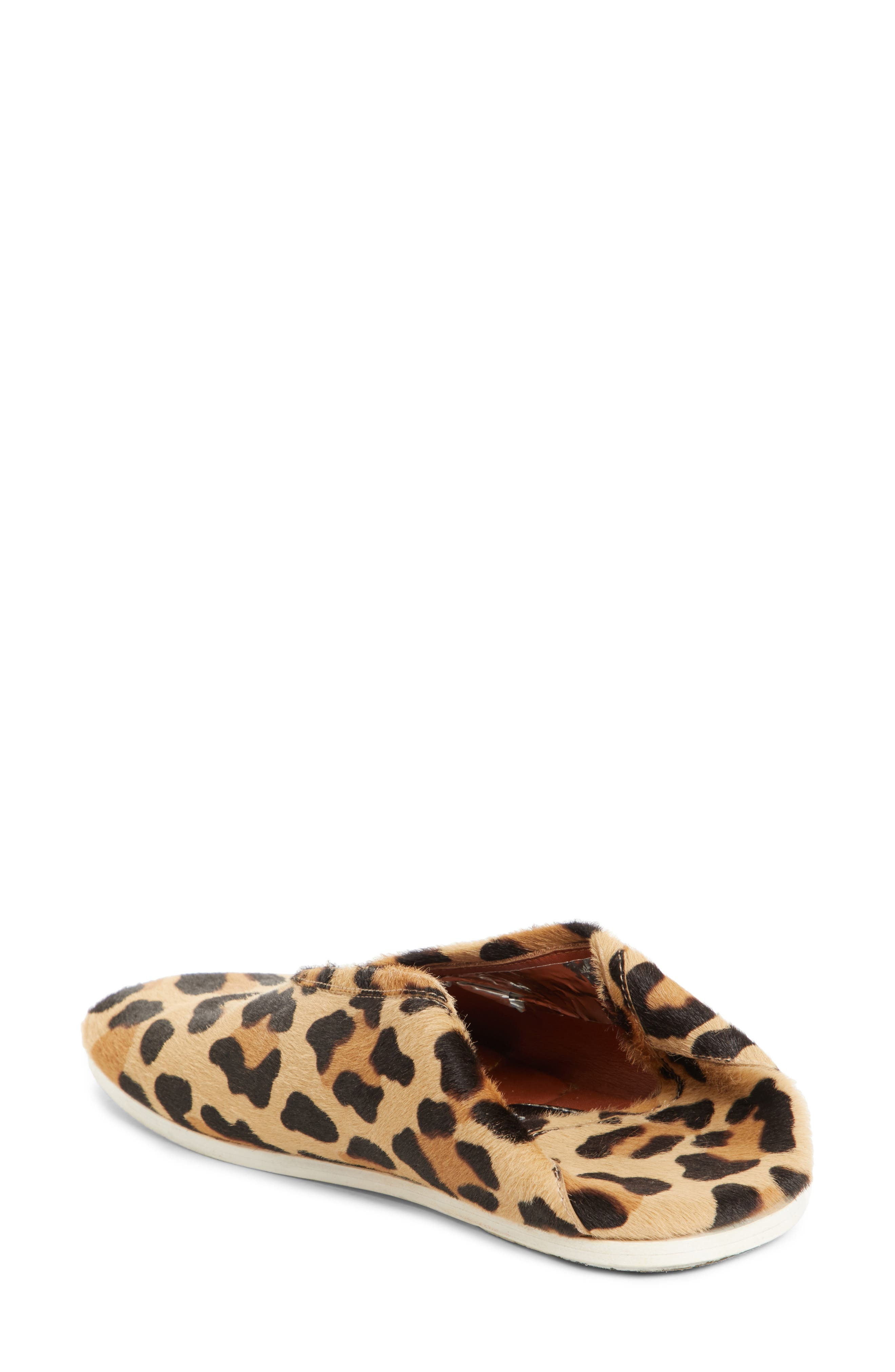 PSWL Genuine Calf Hair Convertible Loafer,                             Alternate thumbnail 3, color,                             Leopard Print