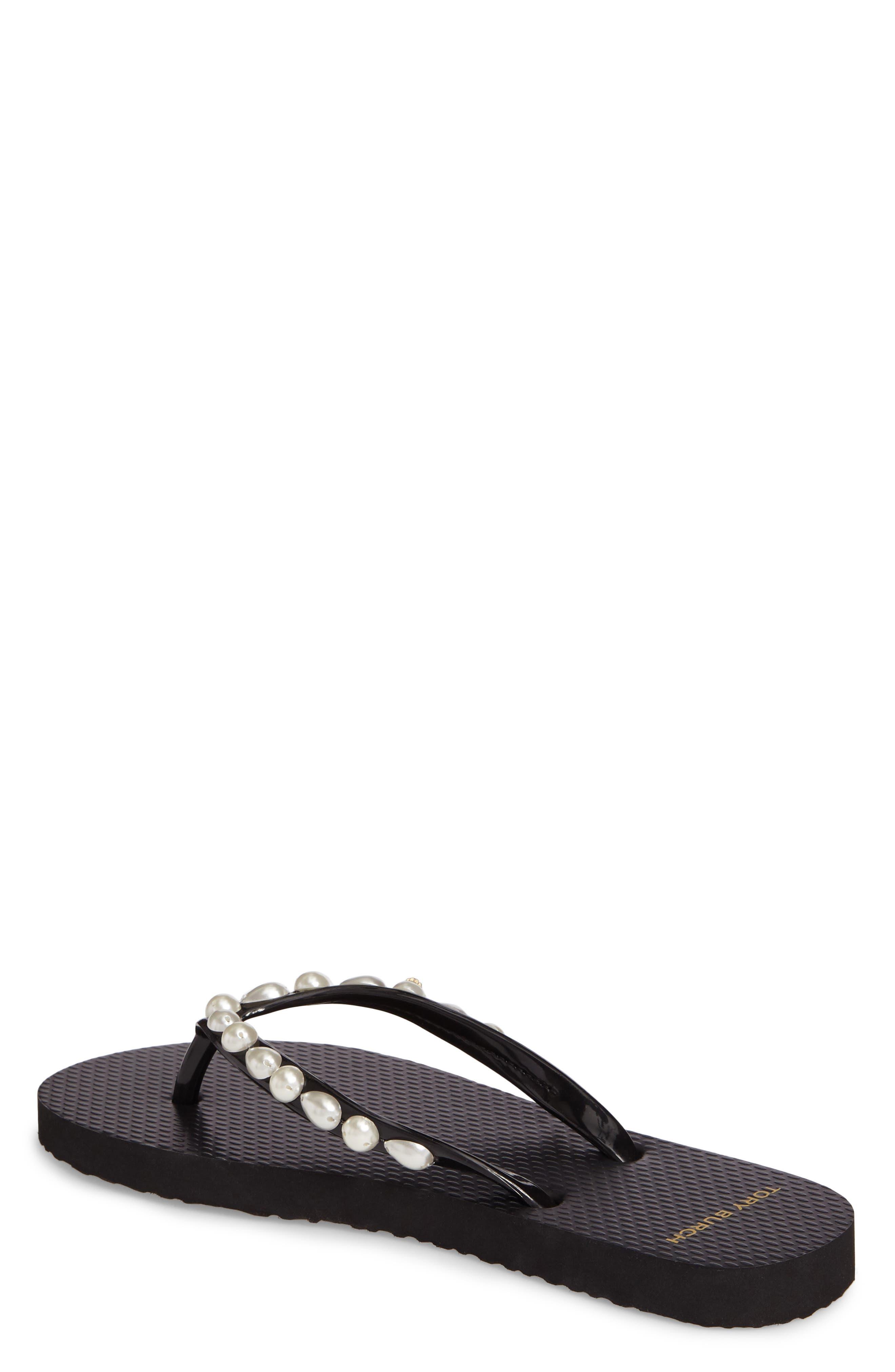 Embellished Flip Flop,                             Alternate thumbnail 2, color,                             Black