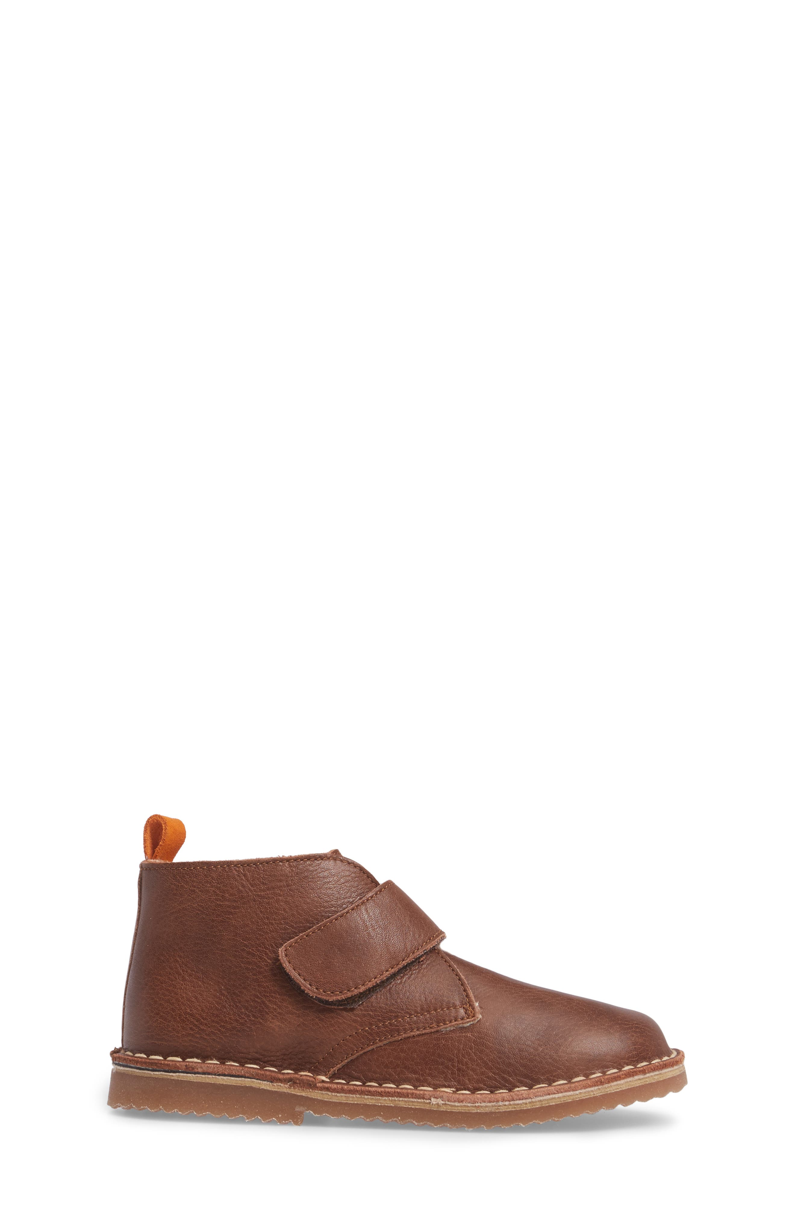 Faux Fur Desert Boot,                             Alternate thumbnail 3, color,                             Brown