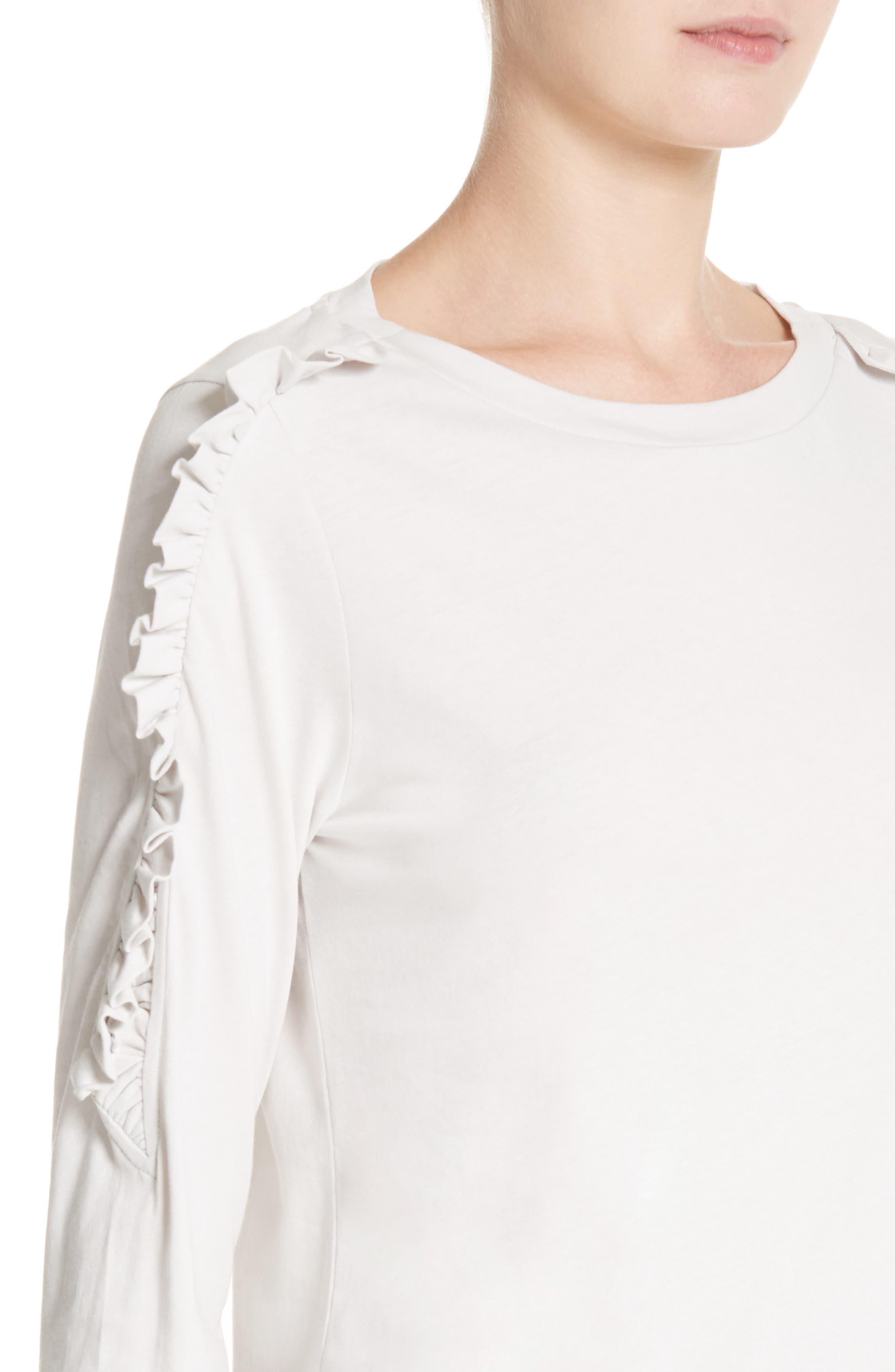Alternate Image 4  - Burberry Uima Ruffle Cotton Top