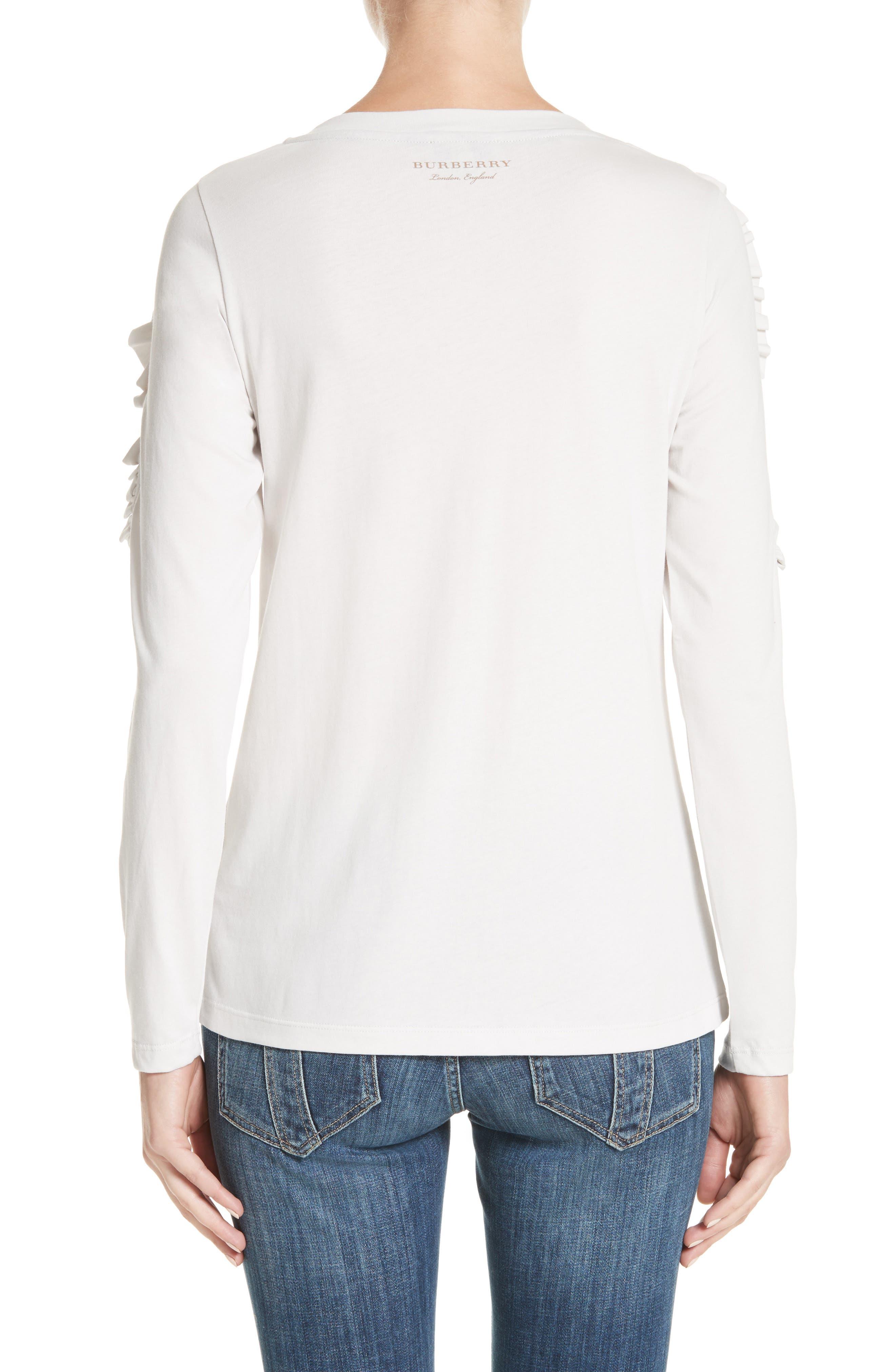 Alternate Image 2  - Burberry Uima Ruffle Cotton Top
