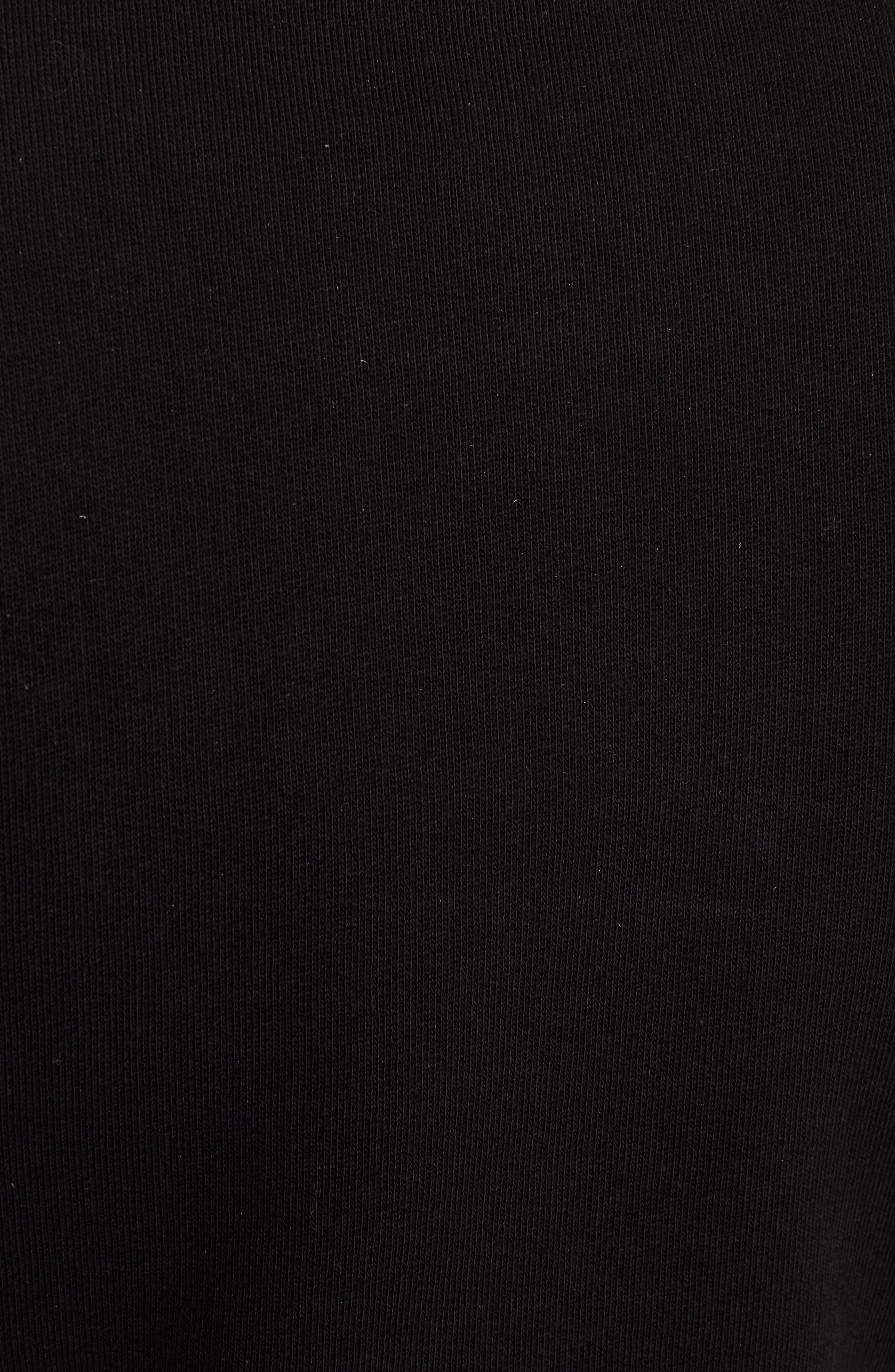 Tiger Flare Embroidered T-Shirt Dress,                             Alternate thumbnail 5, color,                             Black