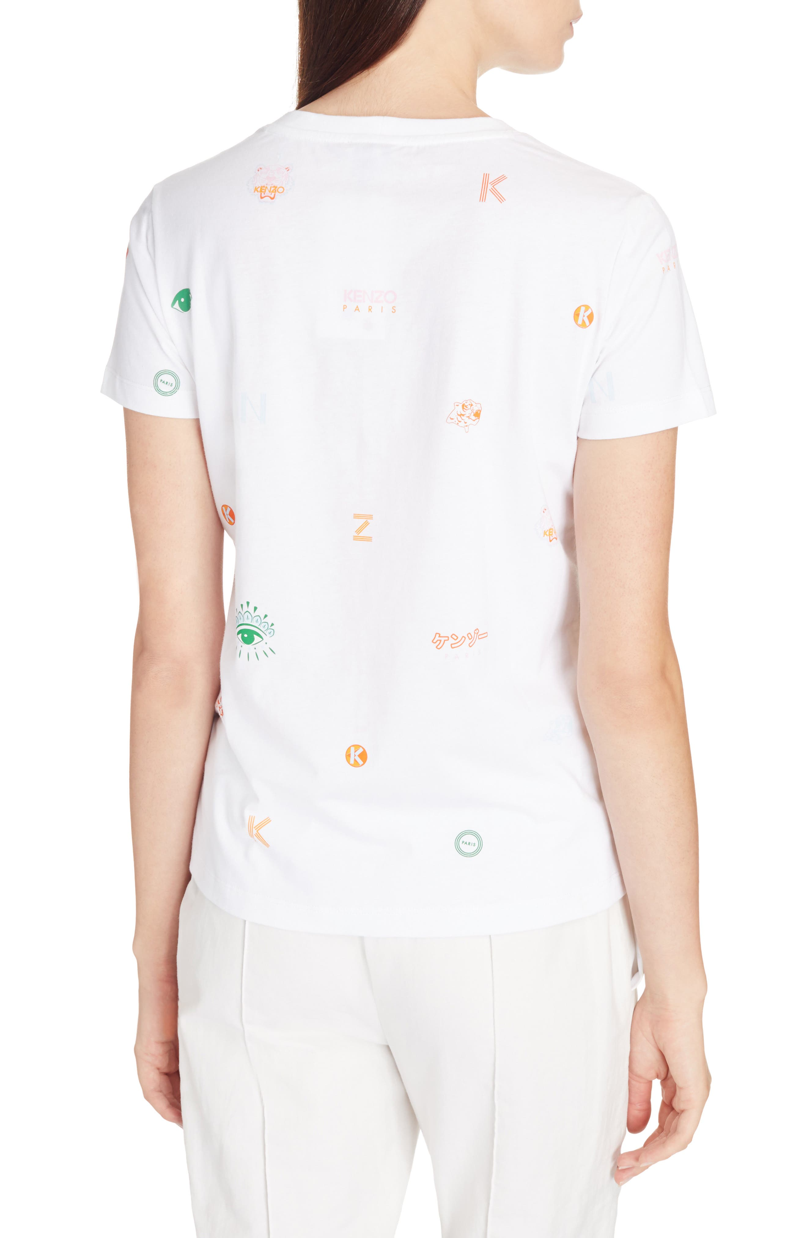 Multi Icons Graphic Tee,                             Alternate thumbnail 2, color,                             White