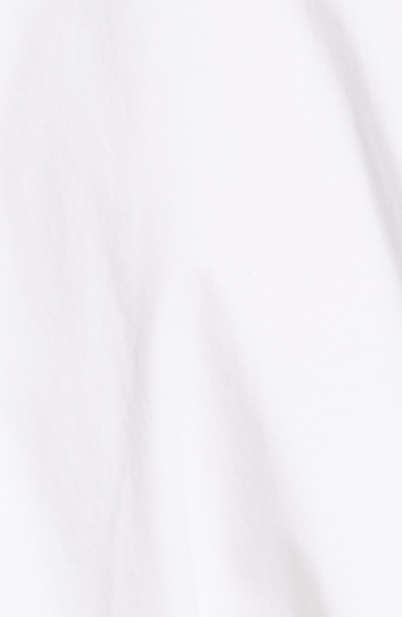 PSWL Belted Poplin Shirtdress,                             Alternate thumbnail 6, color,                             Optic White/ Black