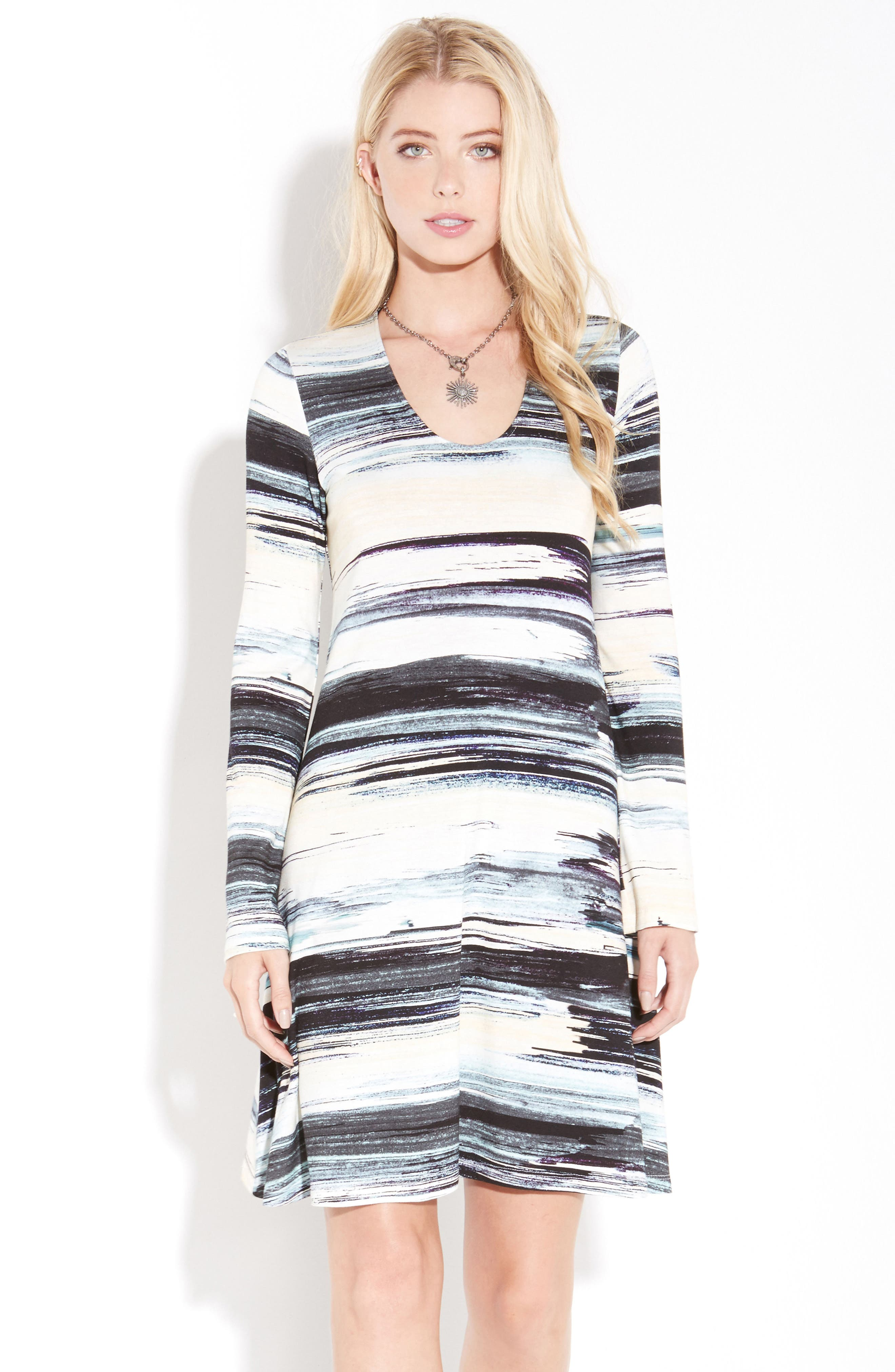 Taylor Brushstrokes Dress,                             Alternate thumbnail 2, color,                             Print