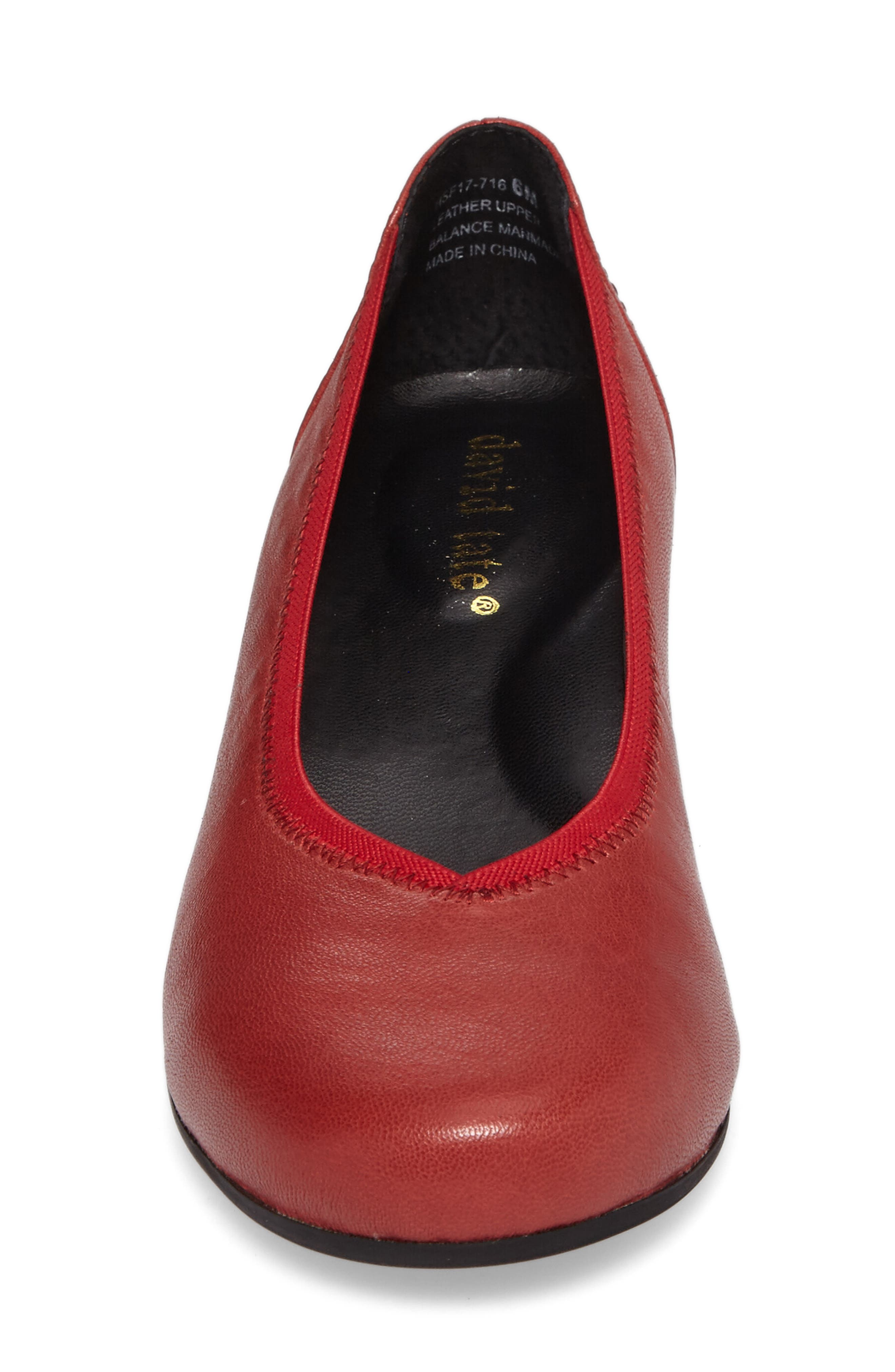 Madera Pump,                             Alternate thumbnail 4, color,                             Red Leather
