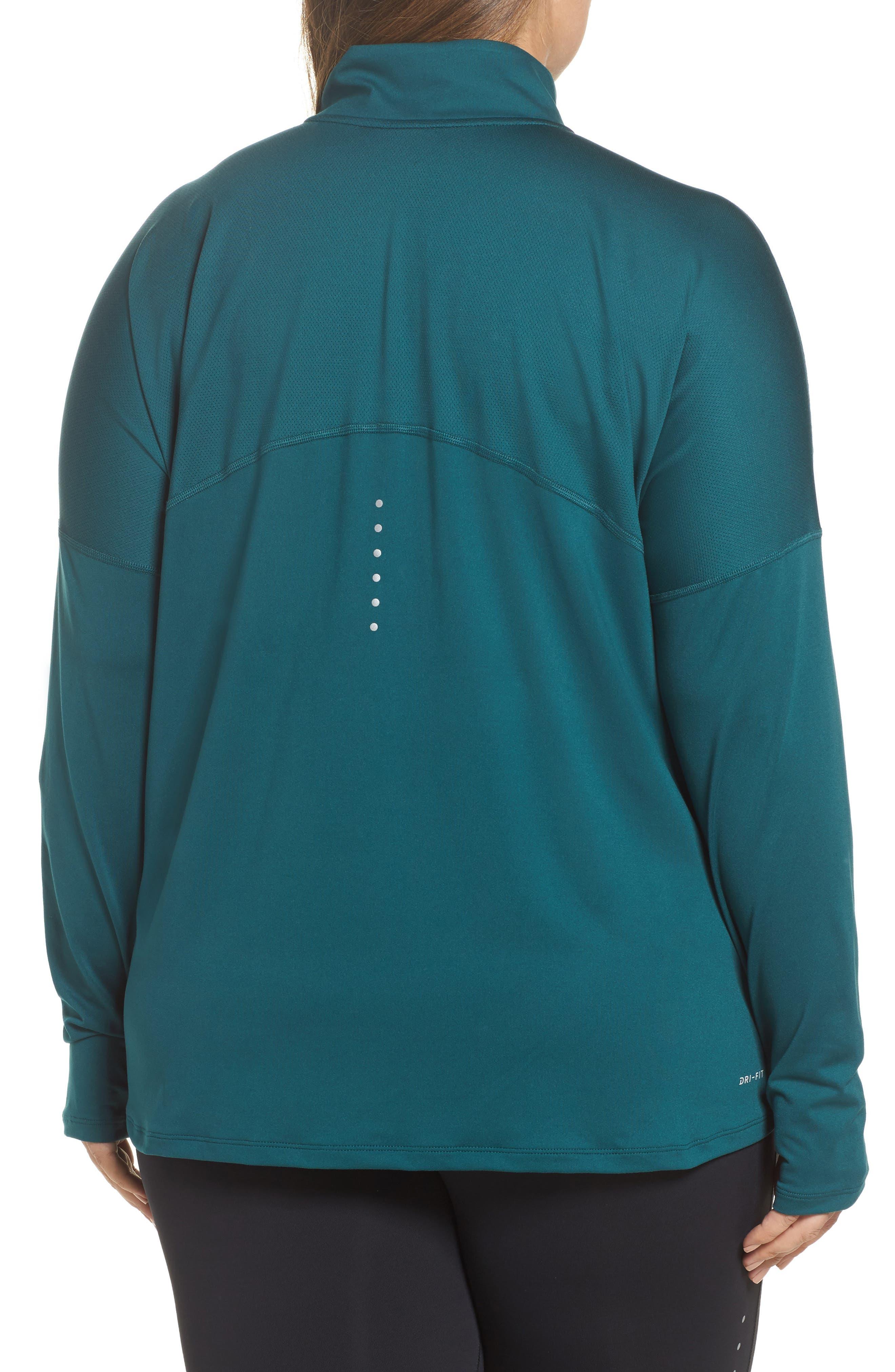 Alternate Image 2  - Nike Dry Element Half Zip Top (Plus Size)