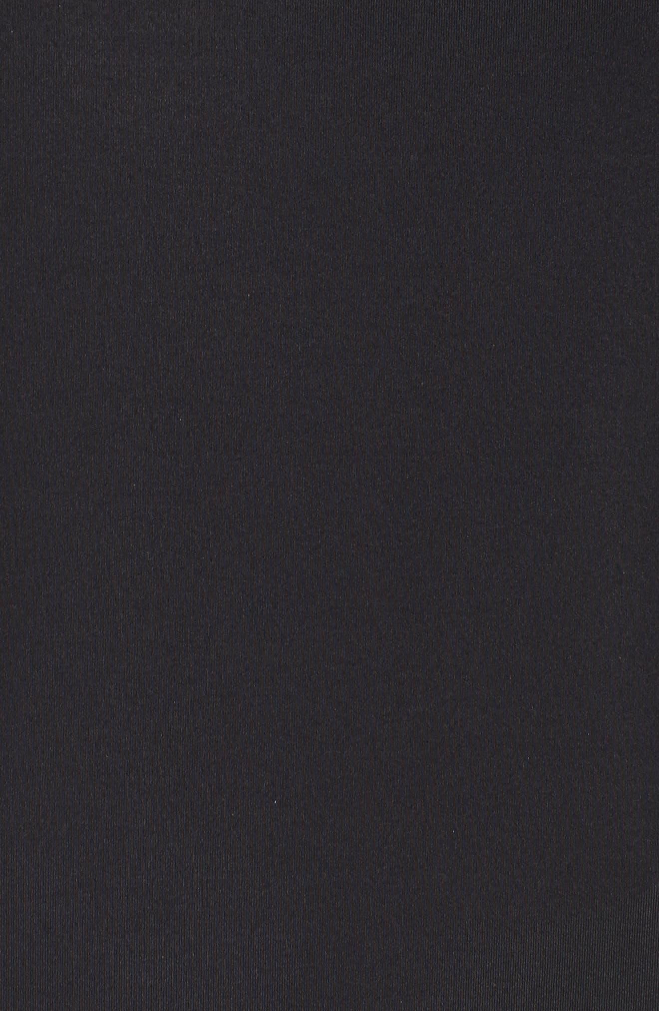 Mesh Sleeve Funnel Neck Pullover,                             Alternate thumbnail 6, color,                             Black