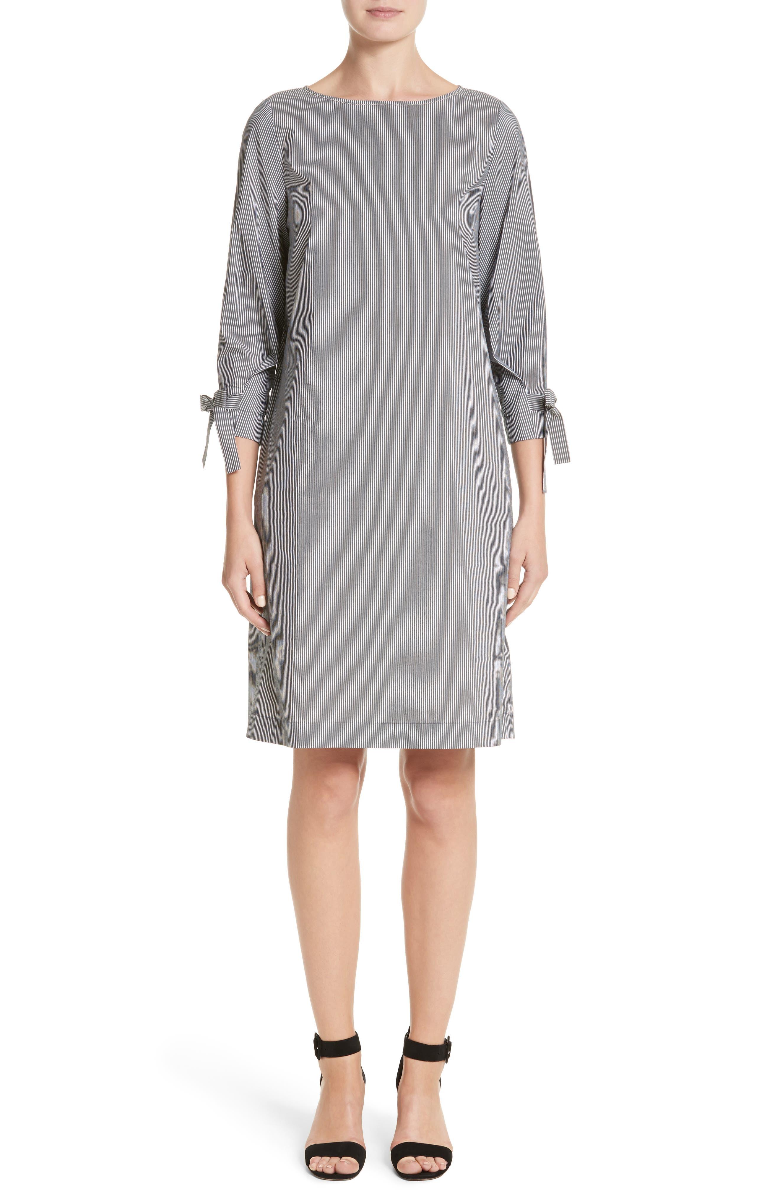 Lafayette 148 New York Paige Stripe Cotton & Silk Shift Dress
