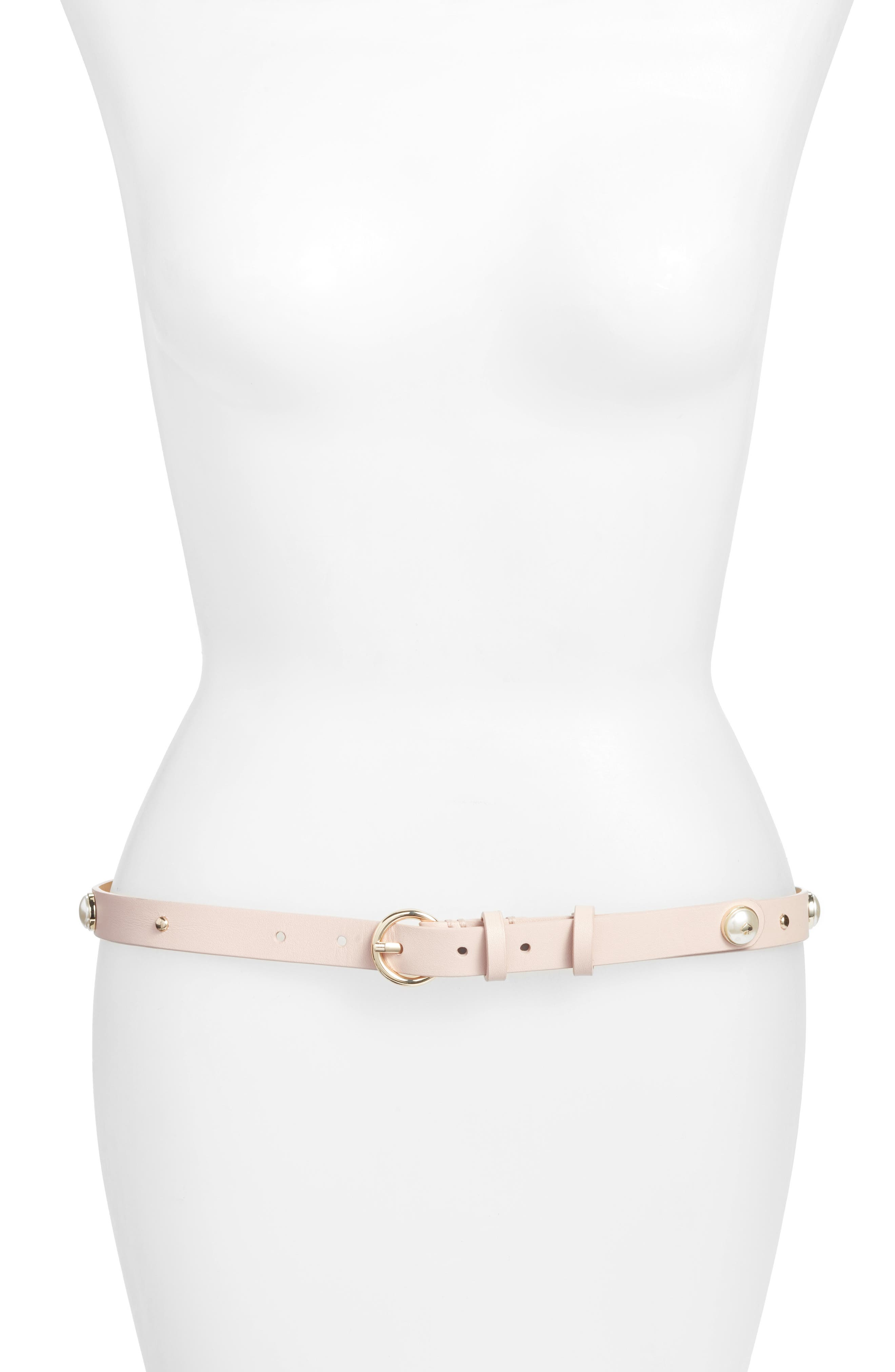 kate spade new york embellished leather belt