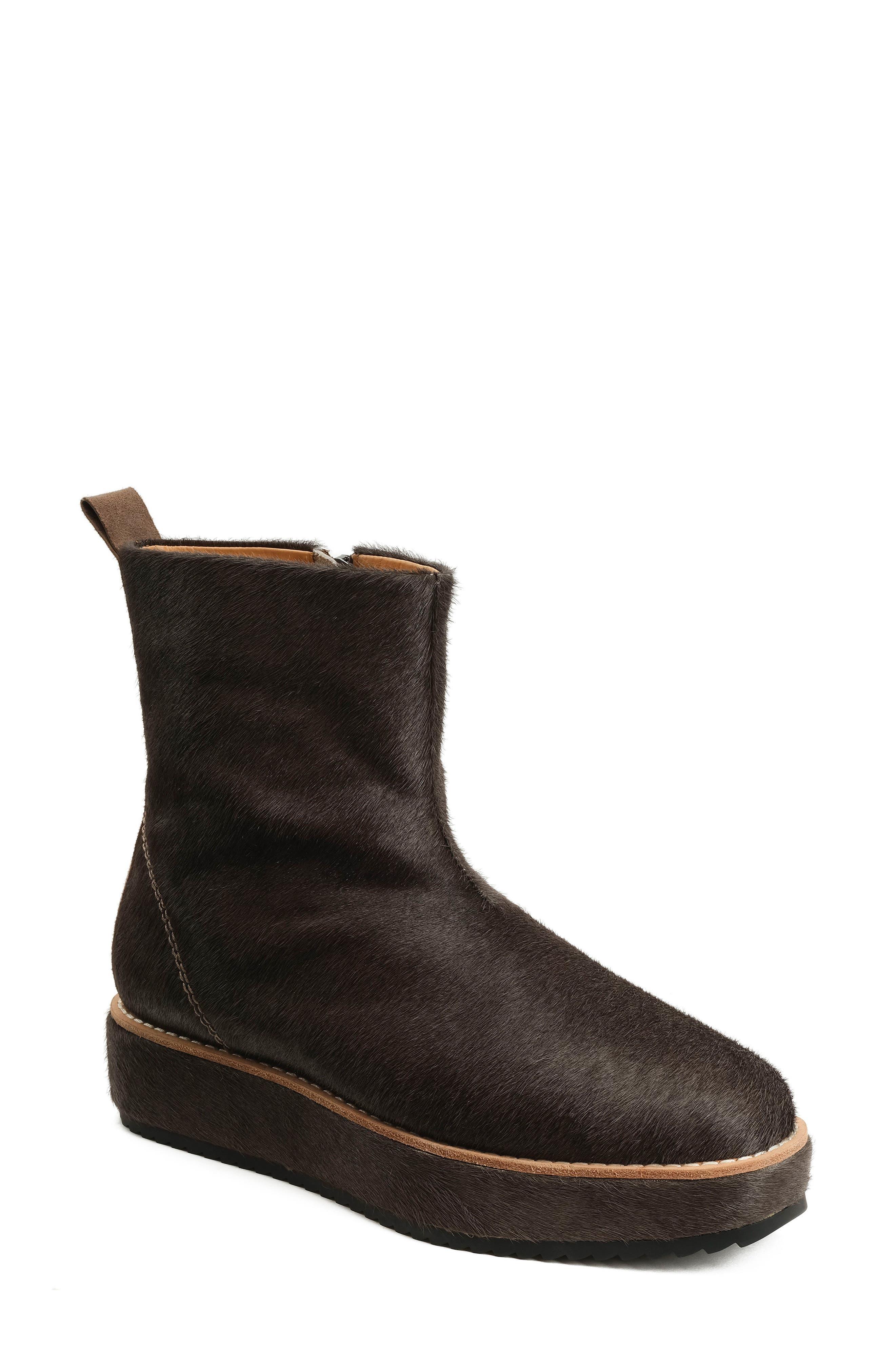 Penny Sutton Genuine Calf Hair Boot,                         Main,                         color, Mushroom Haircalf