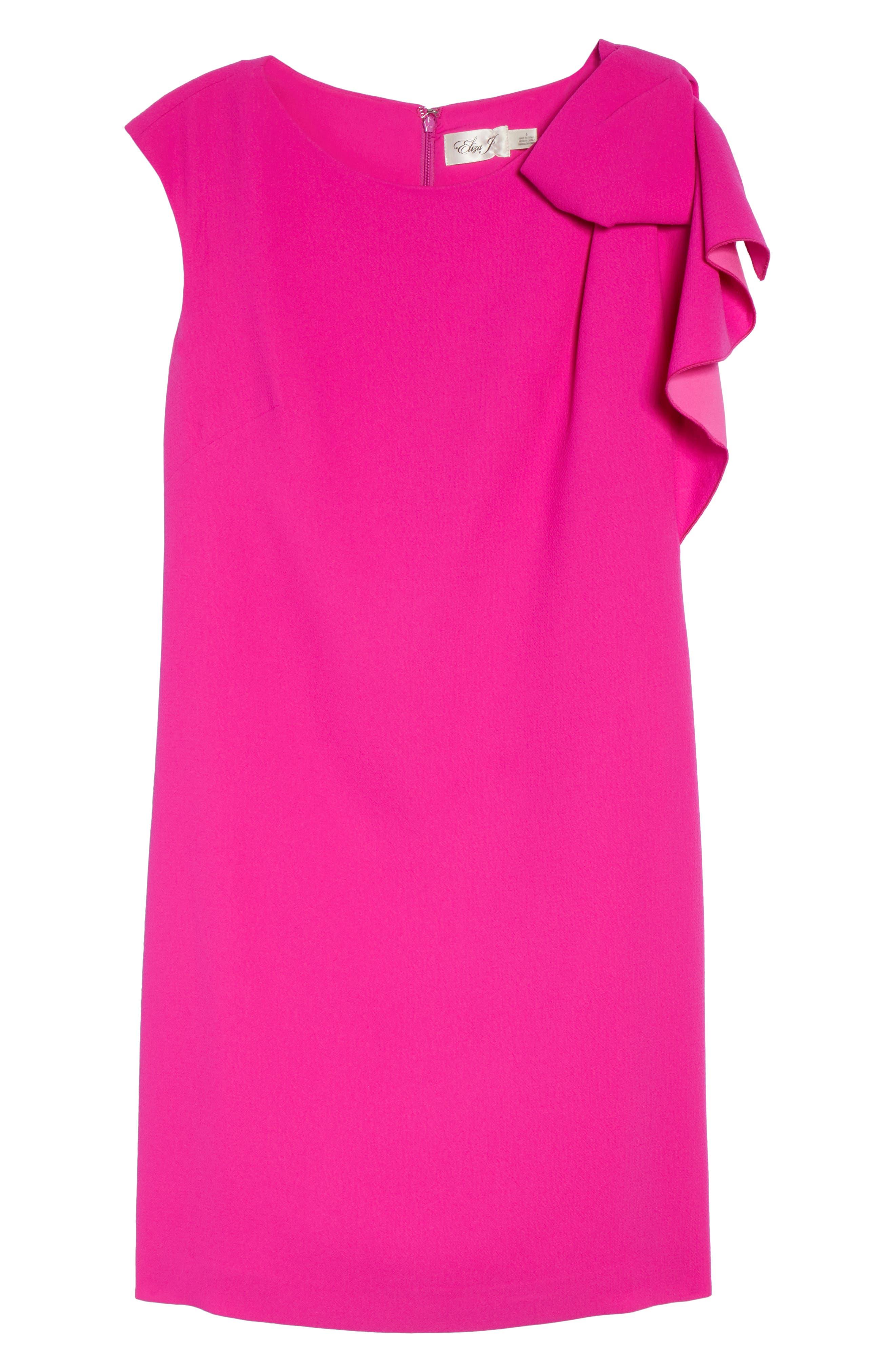 Ruffle Sleeve Shift Dress,                             Alternate thumbnail 7, color,                             Pink