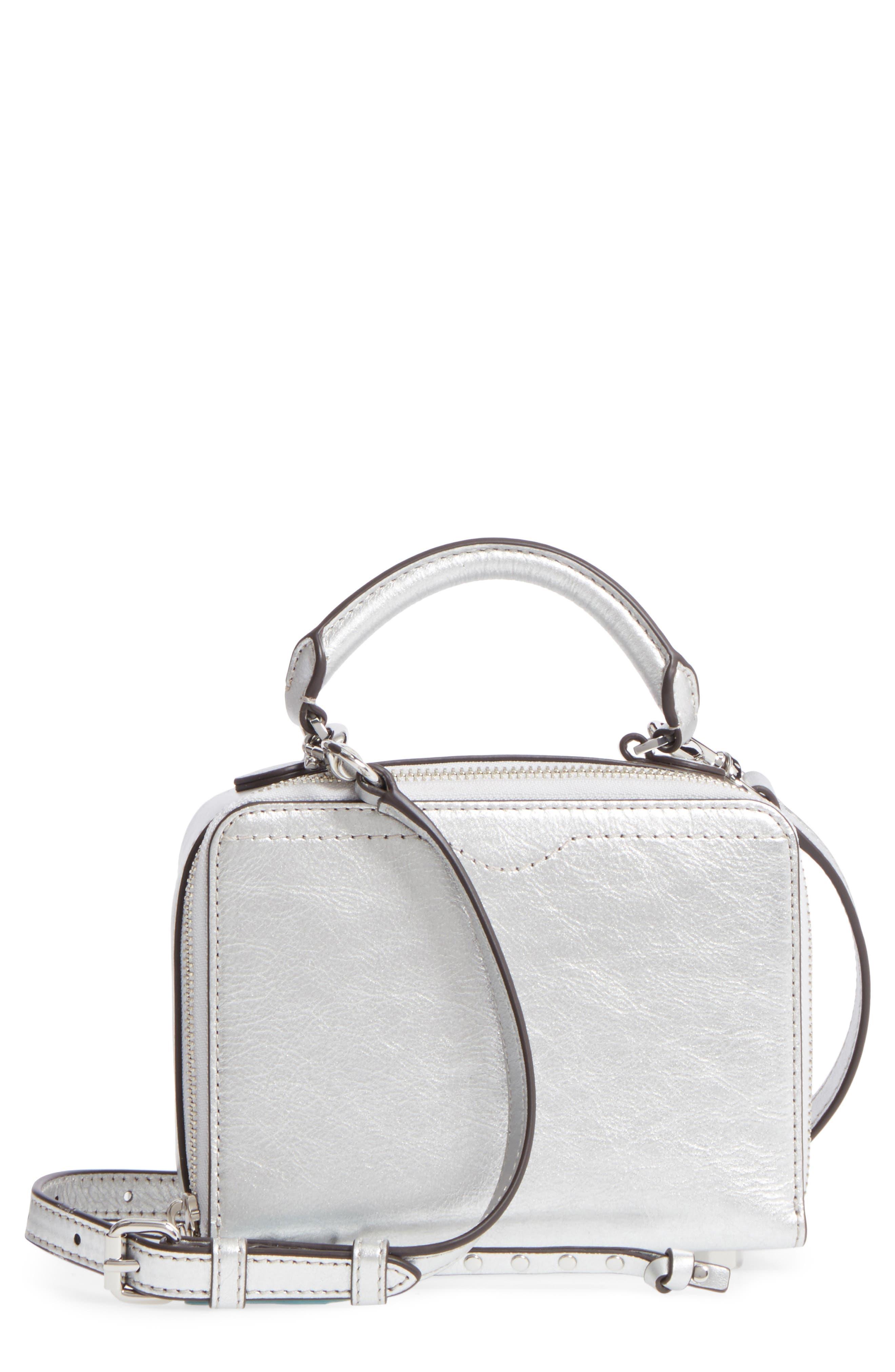 Rebecca Minkoff Box Metallic Leather Crossbody Bag