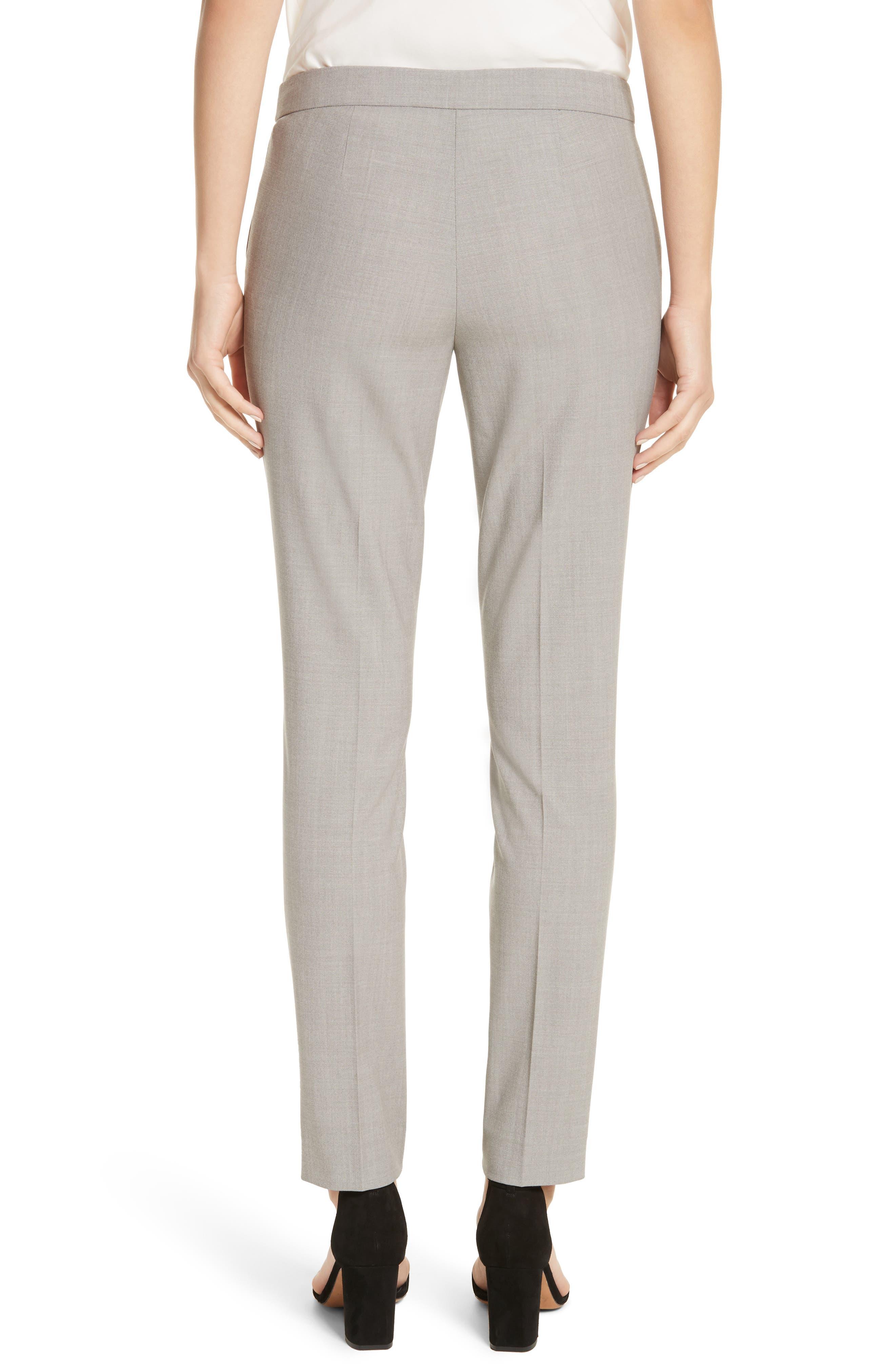 Manhattan Slim Pants,                             Alternate thumbnail 2, color,                             Feather Grey Melange
