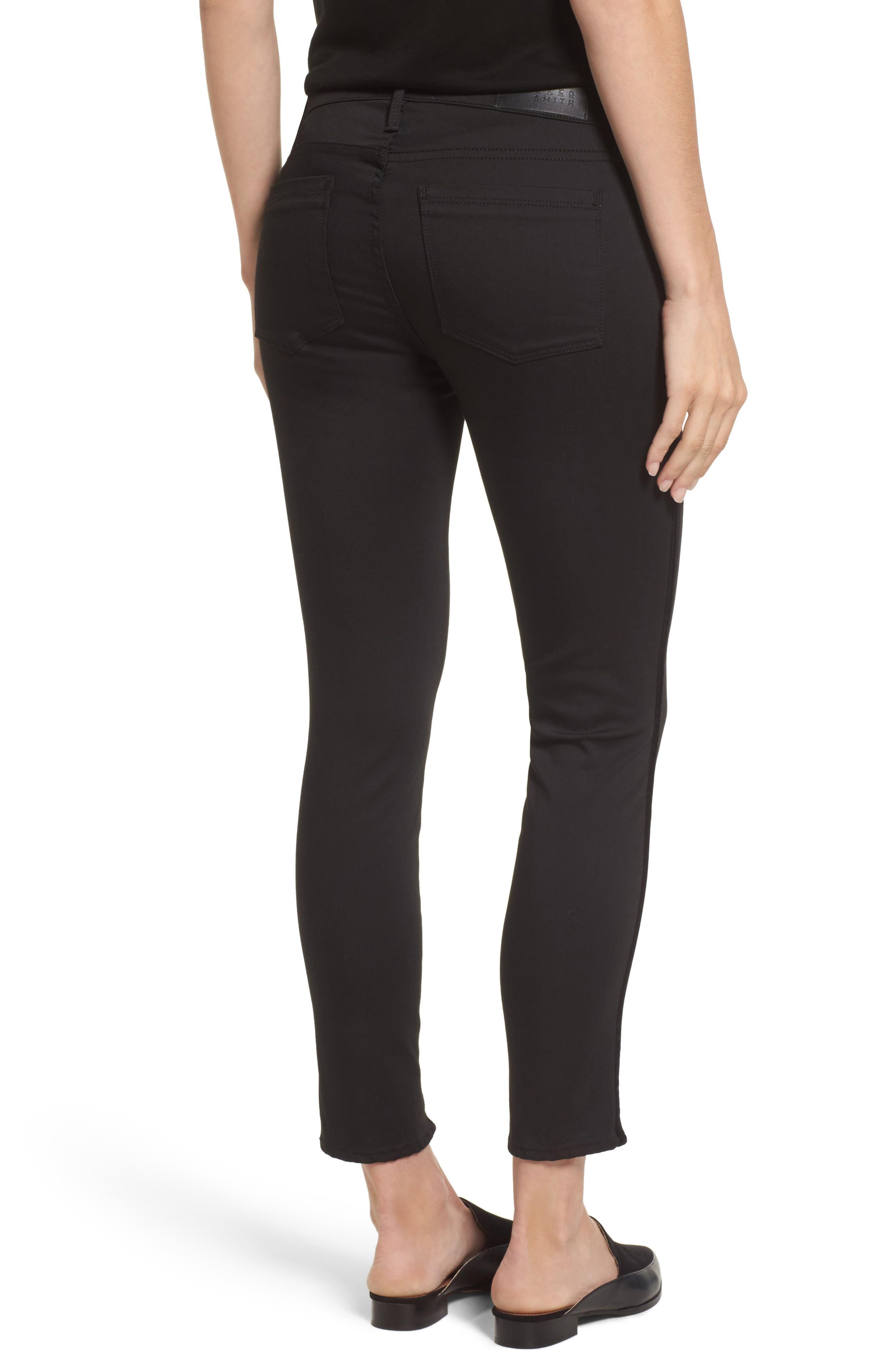 Twisted Tuxedo Crop Skinny Jeans,                             Alternate thumbnail 2, color,                             Eternal Black