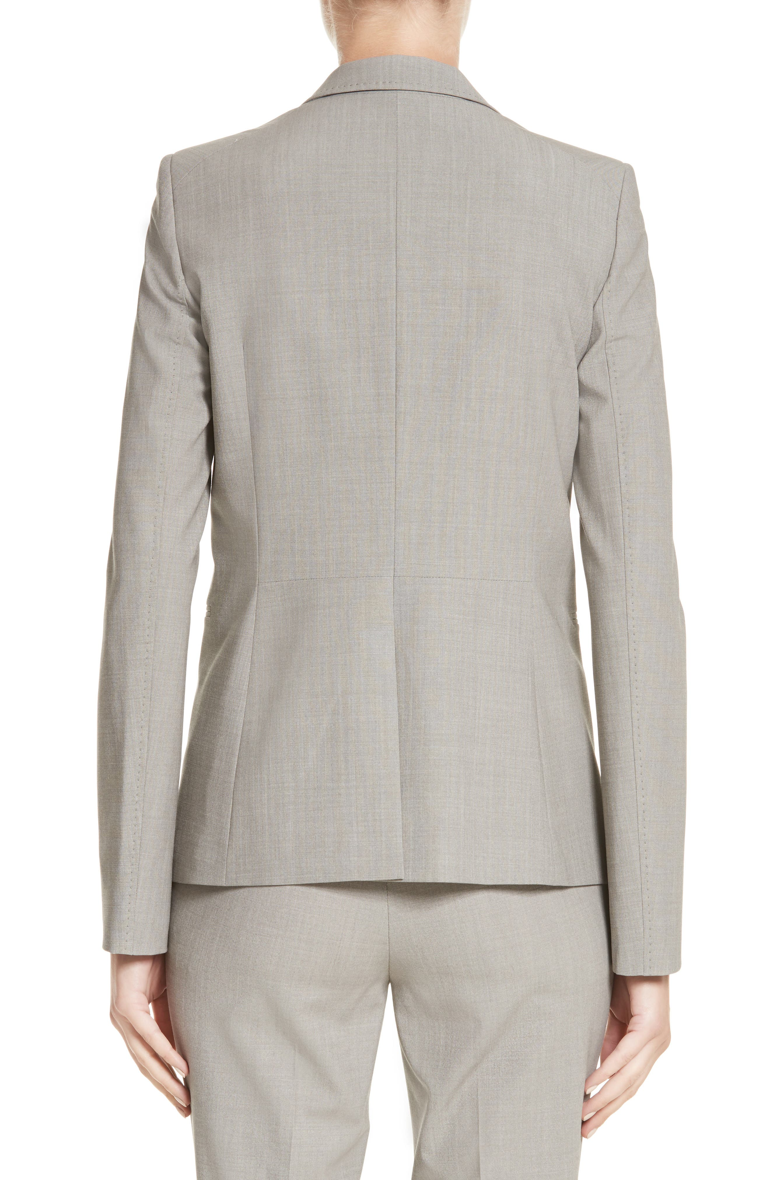 Lyndon Stretch Wool Blazer,                             Alternate thumbnail 2, color,                             Feather Grey Melange