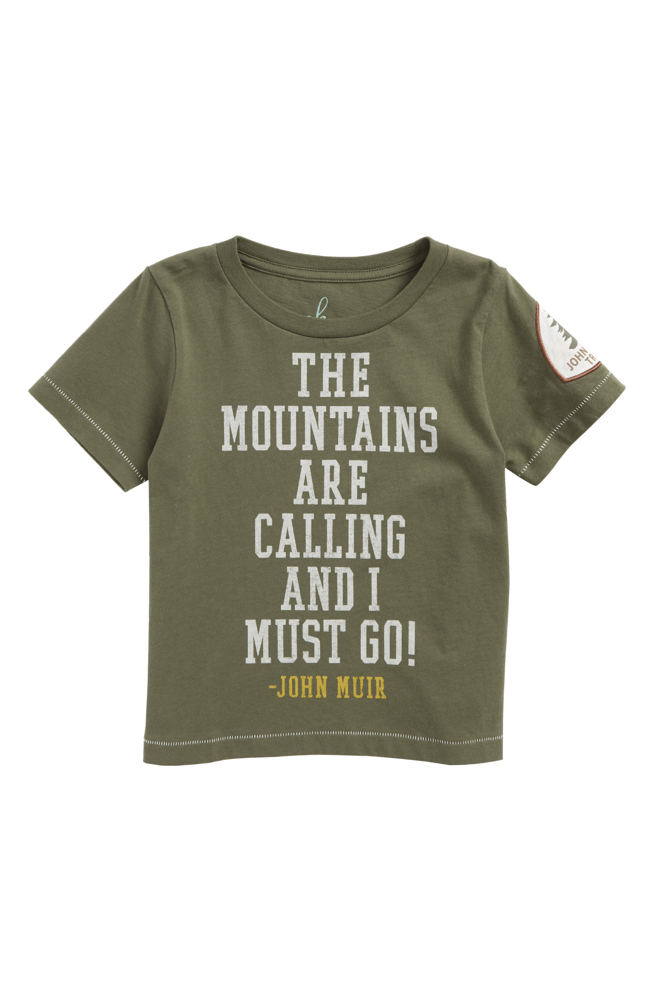 Mountain Trails Graphic T-Shirt,                             Main thumbnail 1, color,                             Olive