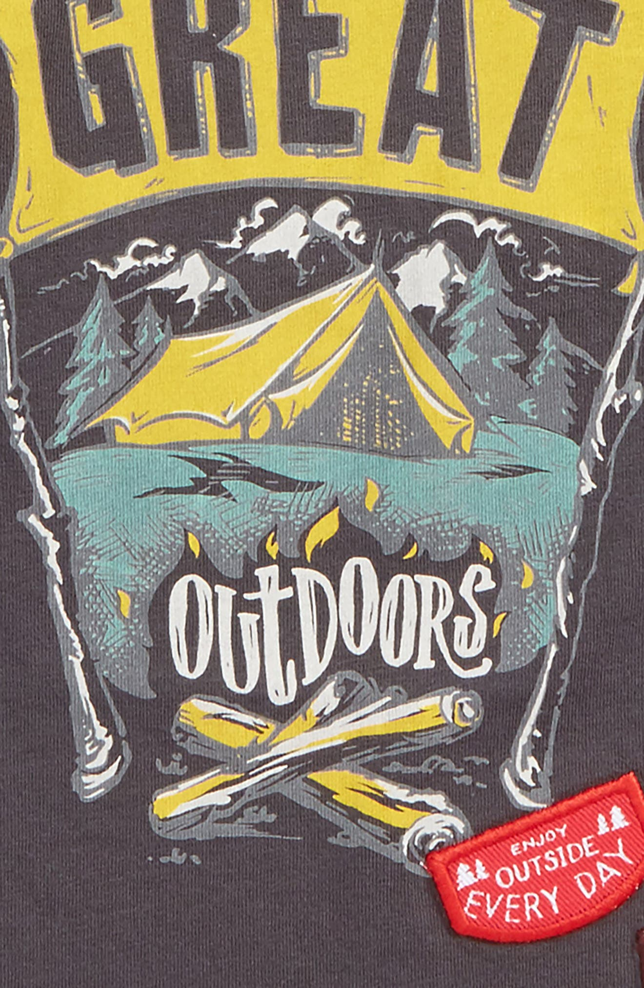 Great Outdoors Graphic Layered T-Shirt,                             Alternate thumbnail 2, color,                             Heather Grey