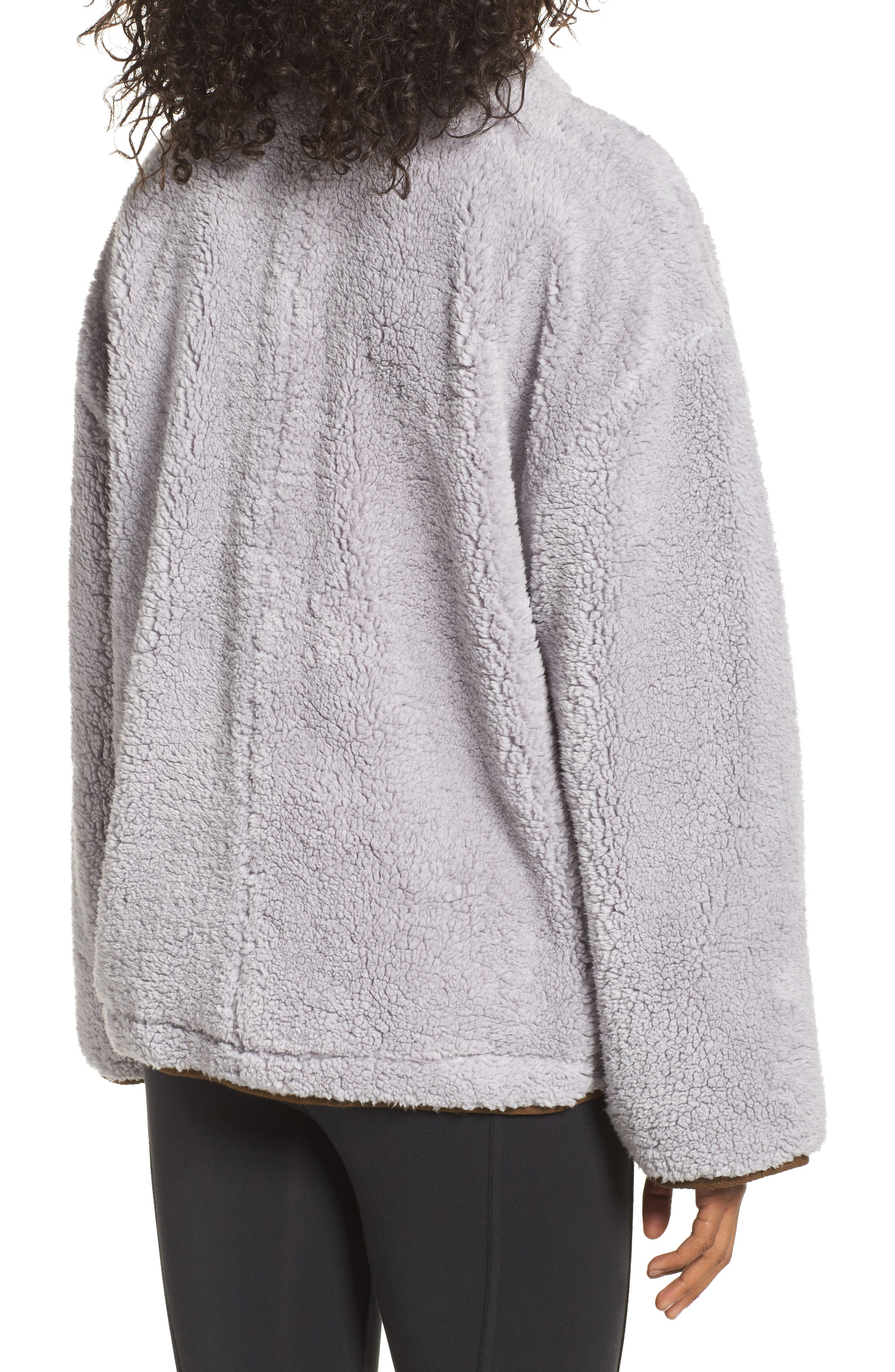 Free People Oh So Cozy Fleece Pullover,                             Alternate thumbnail 3, color,                             Grey