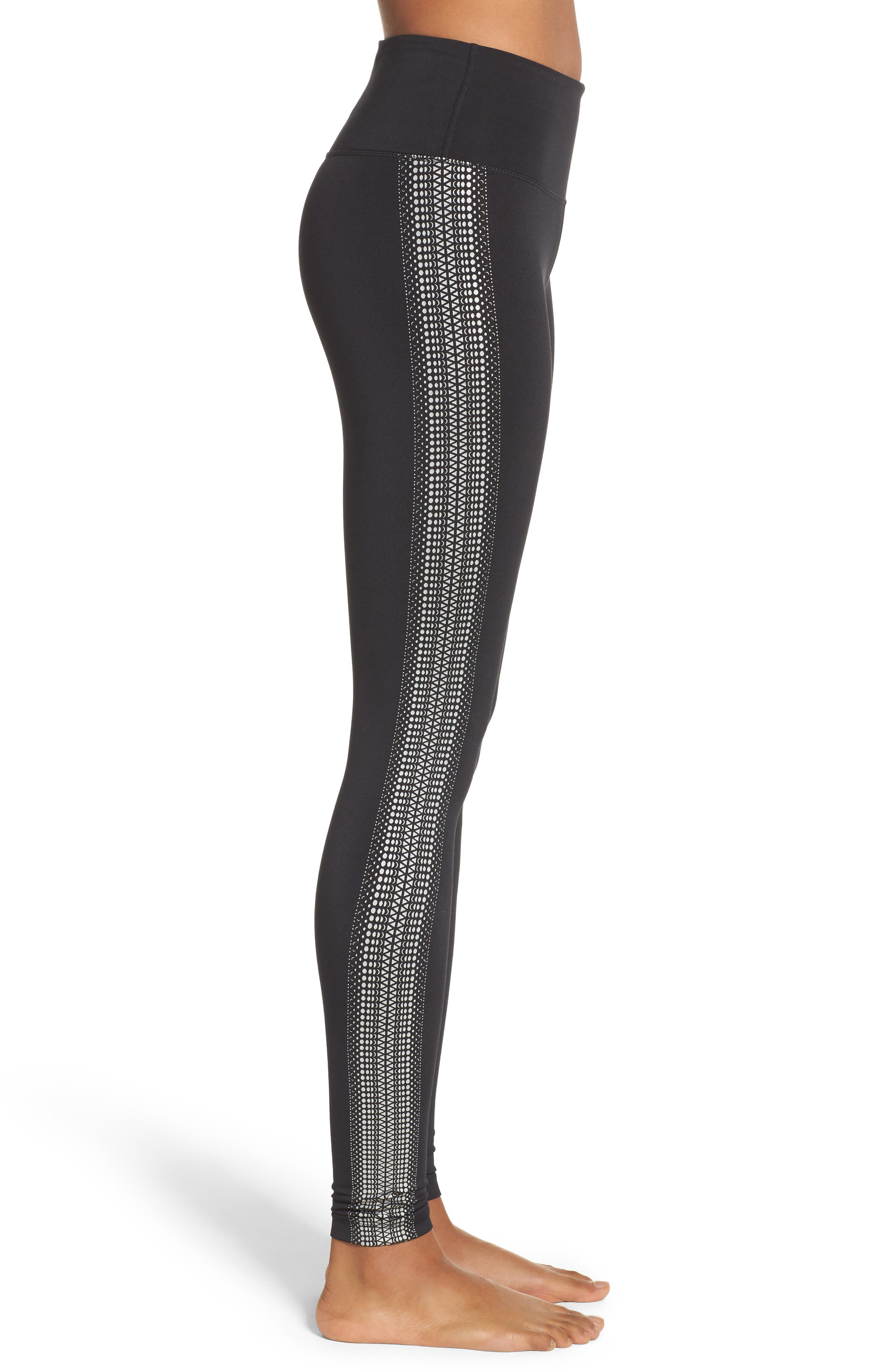 FP Movement Raku Reflective Leggings,                             Alternate thumbnail 3, color,                             Black
